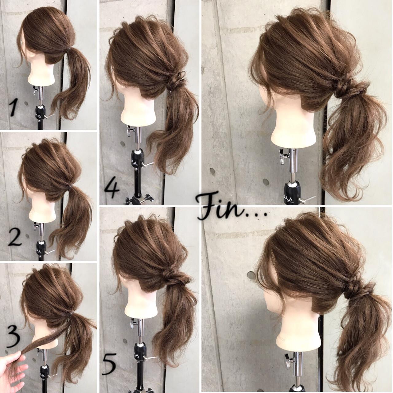ナチュラル 大人女子 簡単 簡単ヘアアレンジ ヘアスタイルや髪型の写真・画像