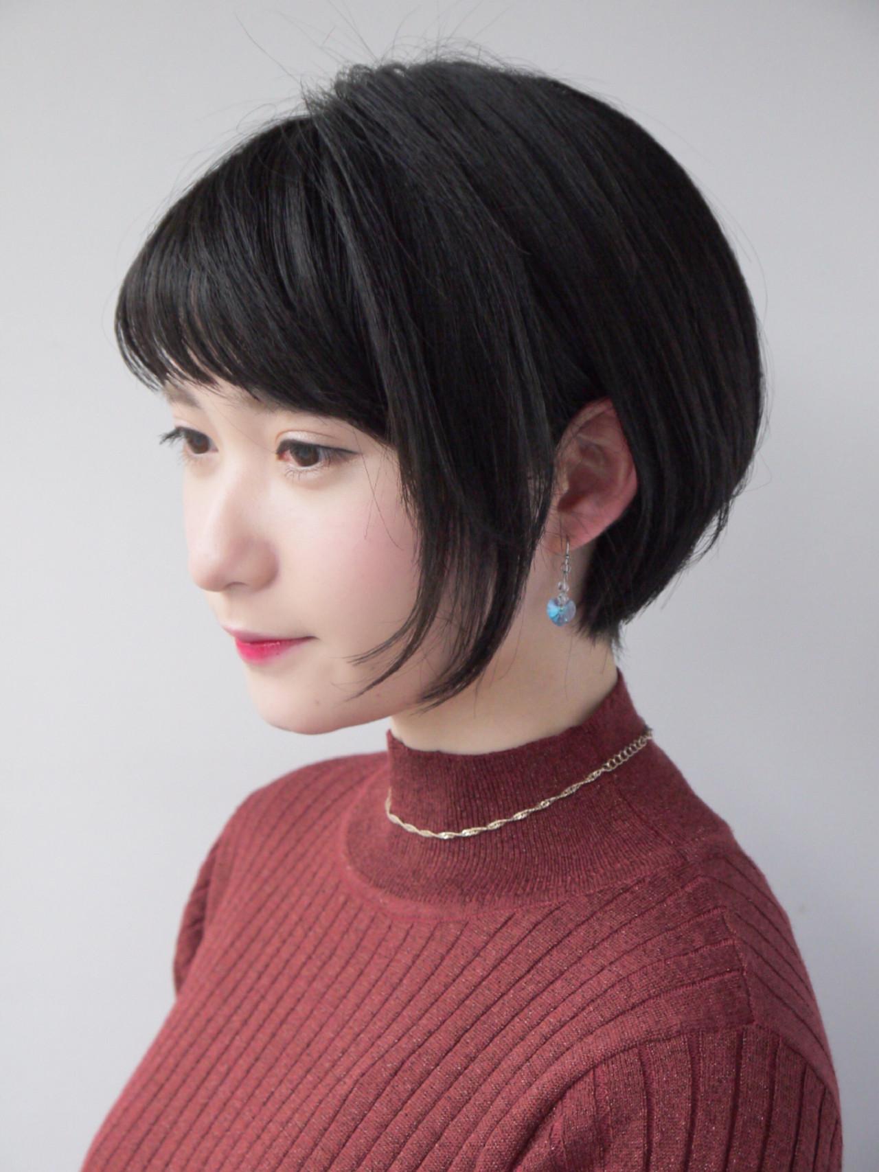 ショートバング 似合わせ 小顔 ナチュラル ヘアスタイルや髪型の写真・画像   Hiroさん / モリオフロムロンドン原宿本店