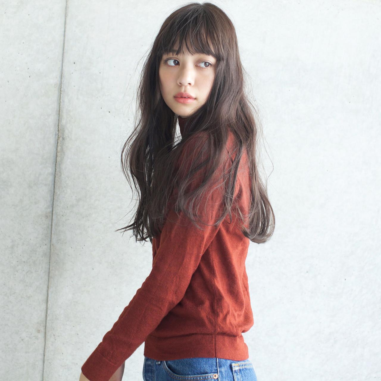 外国人風カラー アンニュイ パーマ ロング ヘアスタイルや髪型の写真・画像