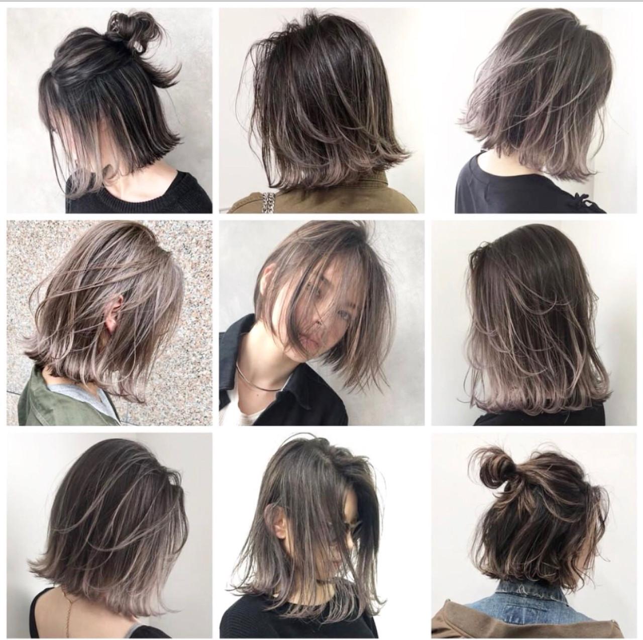 グレージュ 外国人風 ヘアアレンジ アッシュ ヘアスタイルや髪型の写真・画像 | ALT 森田 正浩 / ALT