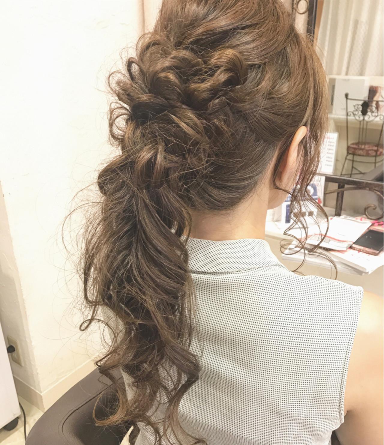 上品 ポニーテール 女子会 ヘアアレンジ ヘアスタイルや髪型の写真・画像 | 大平 結花 / GLAMOROUS (グラマラス)