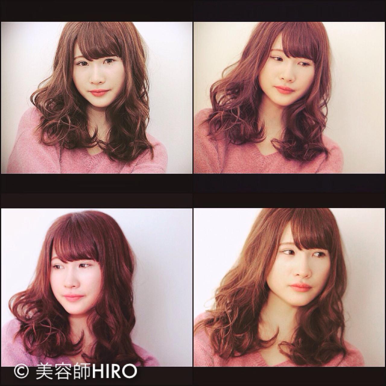 かわいい セミロング ナチュラル モテ髪 ヘアスタイルや髪型の写真・画像