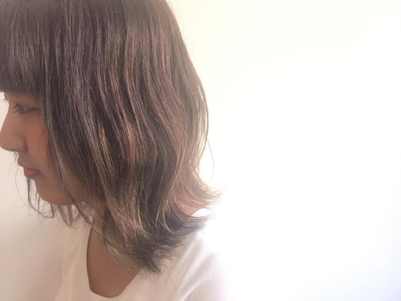 グラデーションカラー 外ハネ ストリート 暗髪 ヘアスタイルや髪型の写真・画像 | Hiroshi Kuroe 尼崎 / K'LipbyTAL'KE