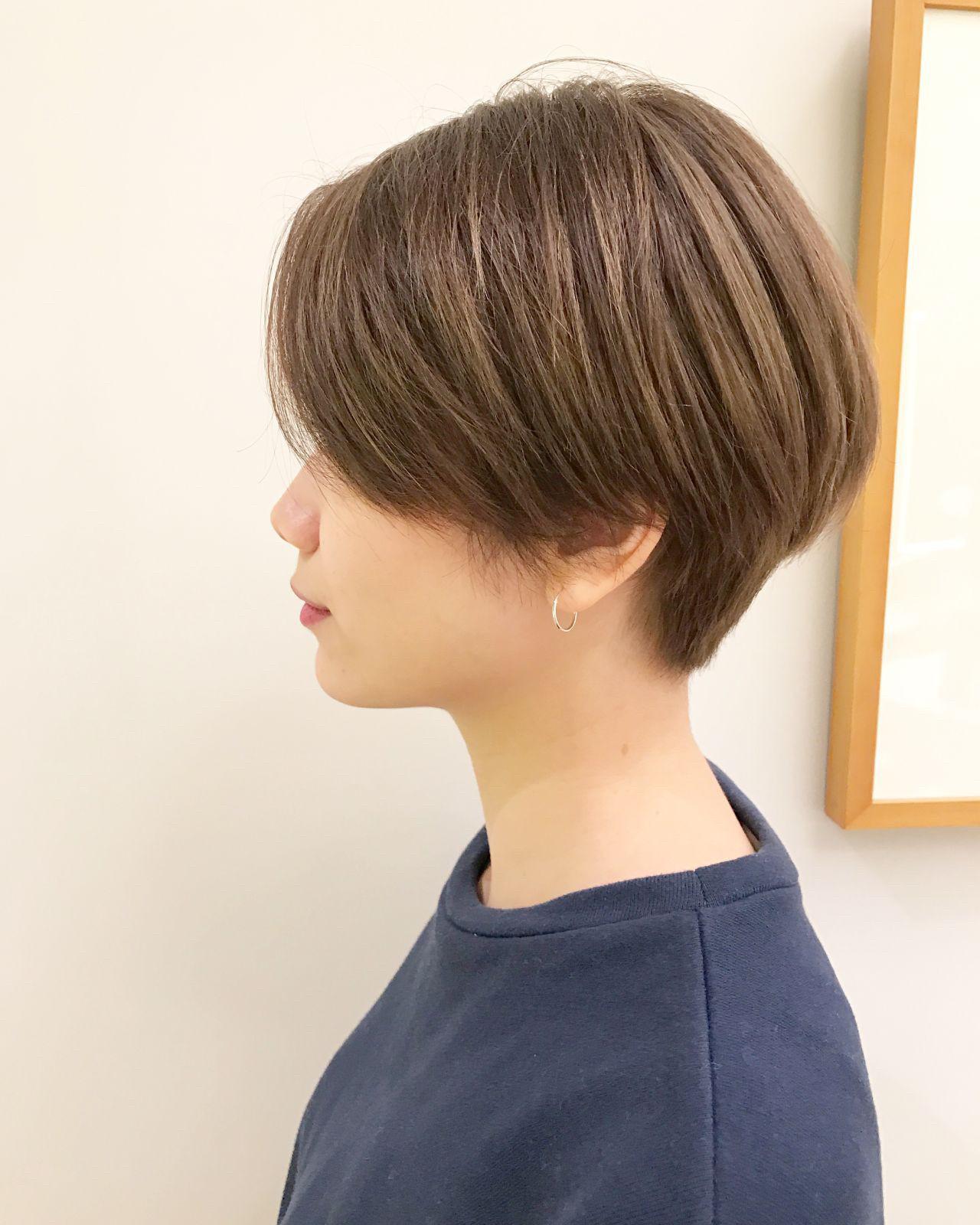 かっこいい ショートボブ ナチュラル ショート Send By Hair