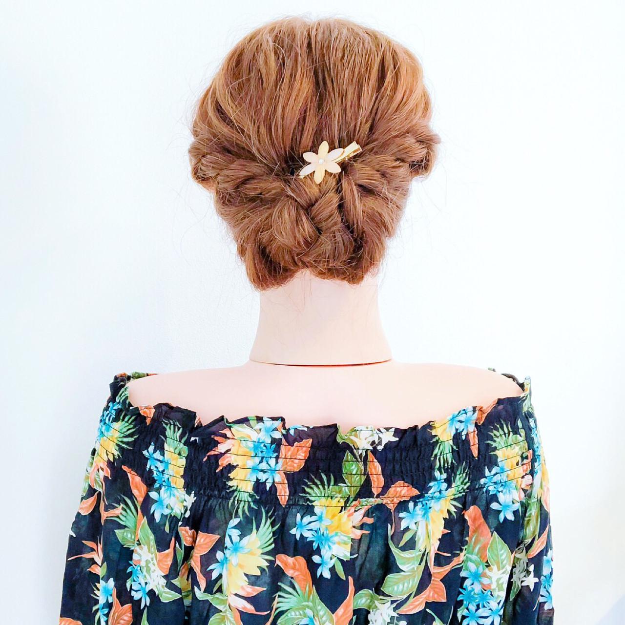 大人かわいい 夏 結婚式 涼しげ ヘアスタイルや髪型の写真・画像
