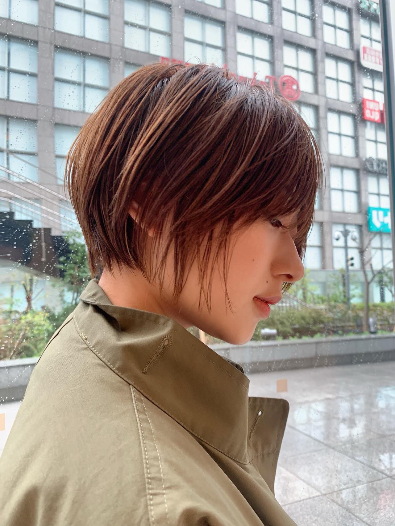 阿藤俊也 ナチュラル ボブ ショートボブ ヘアスタイルや髪型の写真・画像
