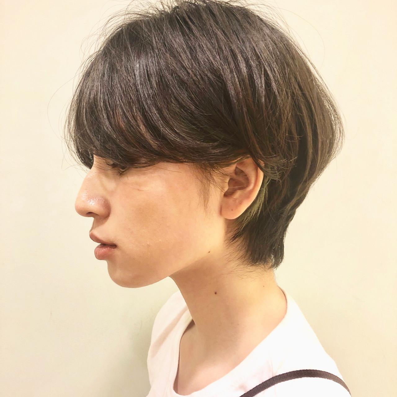ショート 小顔ショート ショートヘア ハンサムショート ヘアスタイルや髪型の写真・画像 | 市田莉子 / BEAUTRIUM265
