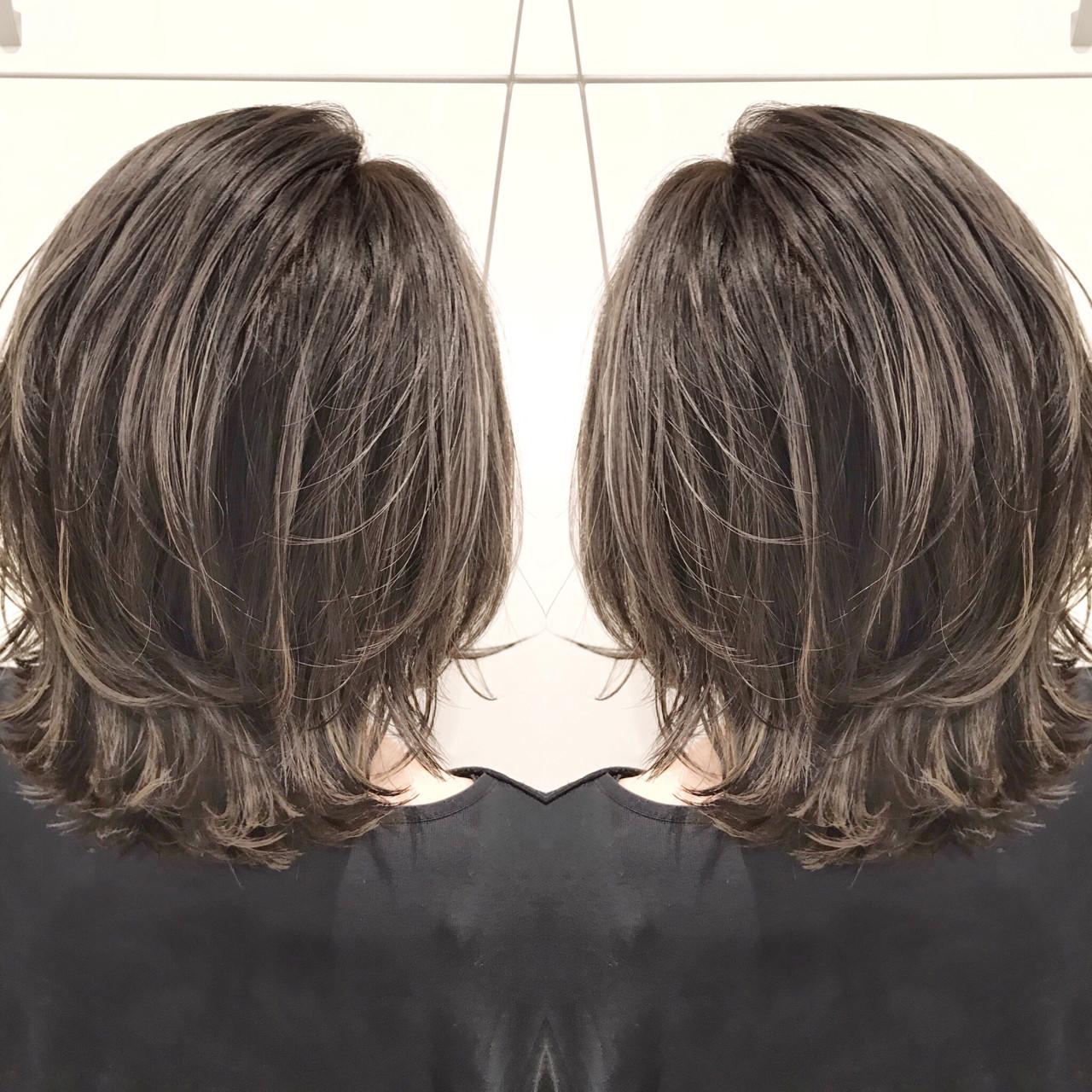 外国人風カラー ミディアム 色気 ストリート ヘアスタイルや髪型の写真・画像 | 長谷川 龍太 / hair design tea