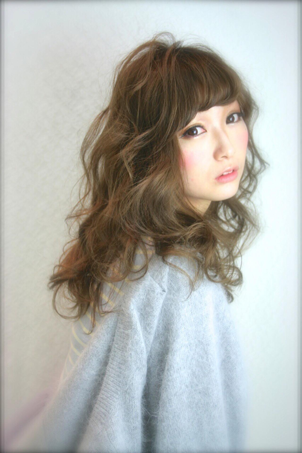 ゆるふわ 大人かわいい ロング 外国人風 ヘアスタイルや髪型の写真・画像