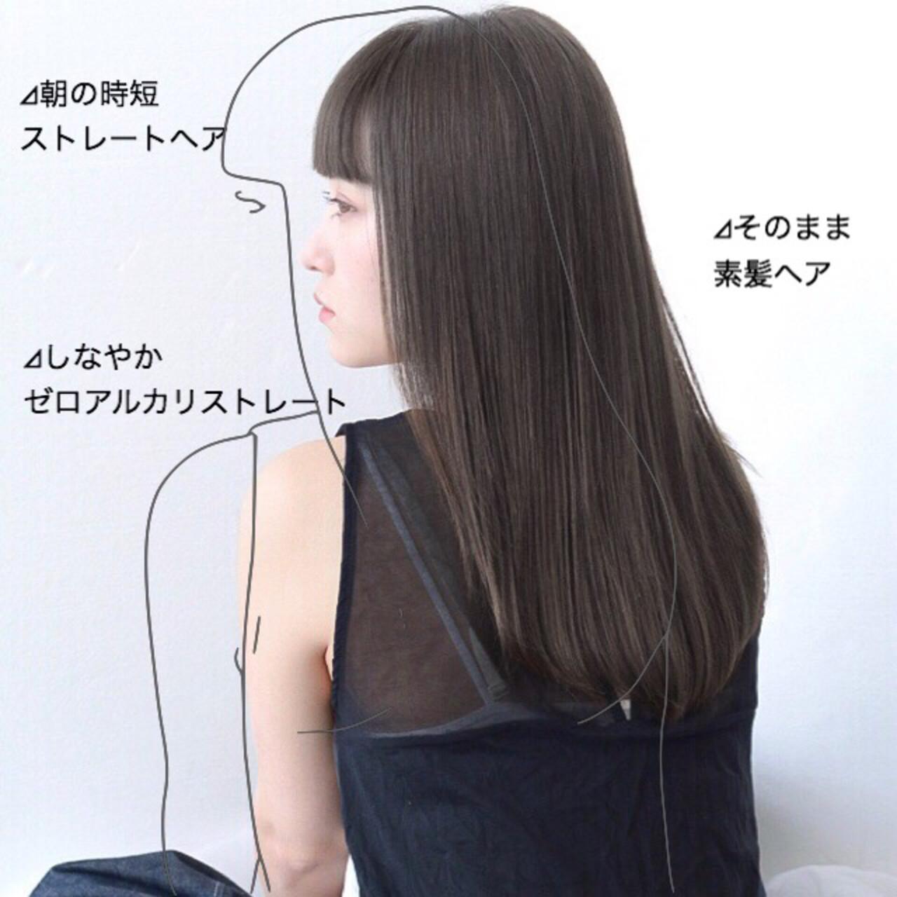 前髪 セミロング 髪質改善 グレージュ ヘアスタイルや髪型の写真・画像