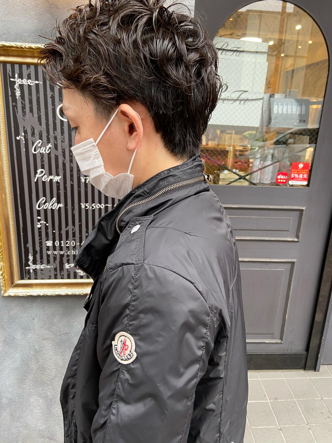 メンズカット メンズヘア メンズ ショート ヘアスタイルや髪型の写真・画像 | haruhi / CHIC feux