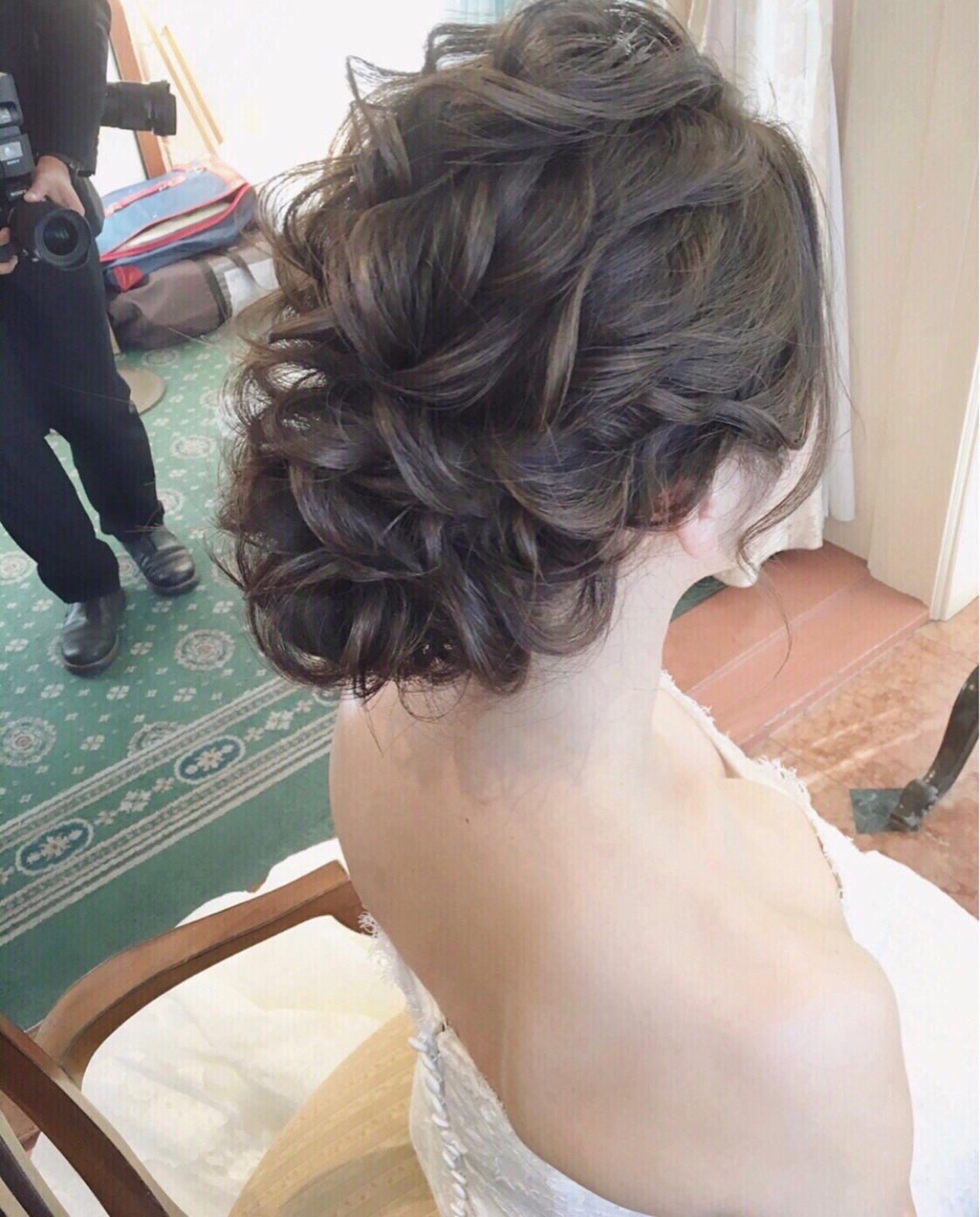 ヘアアレンジ セミロング 大人かわいい 大人女子 ヘアスタイルや髪型の写真・画像 | tomoya tamada / Bridal hairmake