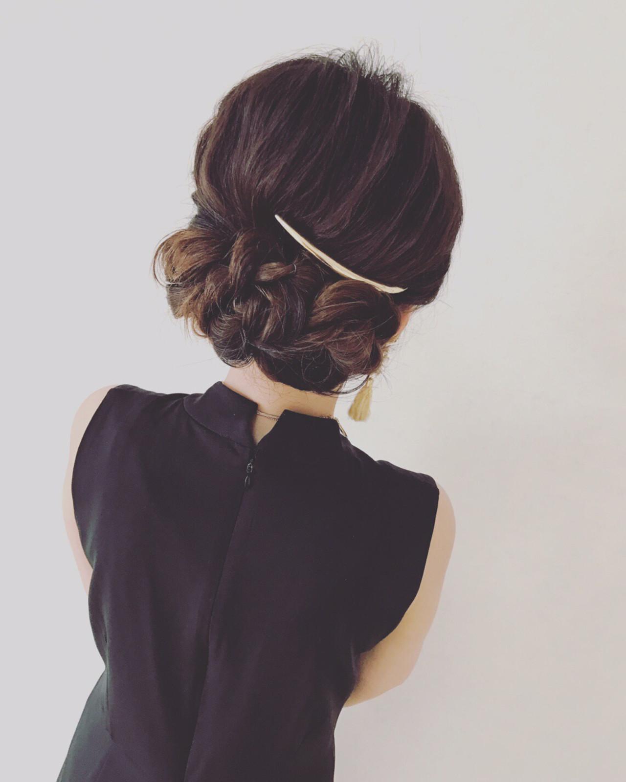 ヘアアレンジ 結婚式 こなれ感 ショート ヘアスタイルや髪型の写真・画像 | Moriyama Mami / 福岡天神ヘアセット・着付け専門店【Three-keys】