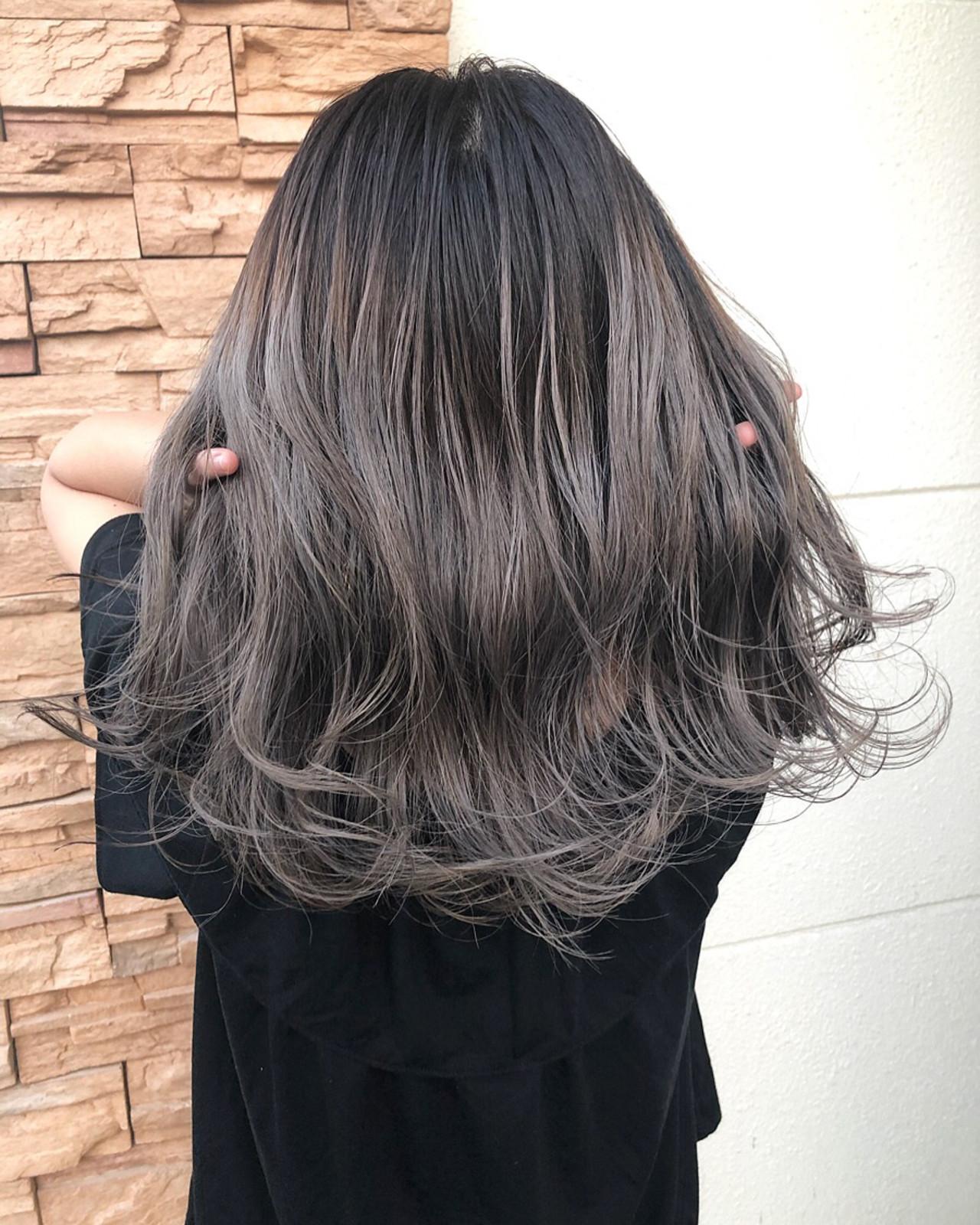 ストリート グラデーションカラー 切りっぱなしボブ バレイヤージュ ヘアスタイルや髪型の写真・画像 | 佐藤タカヒロ / Gritter