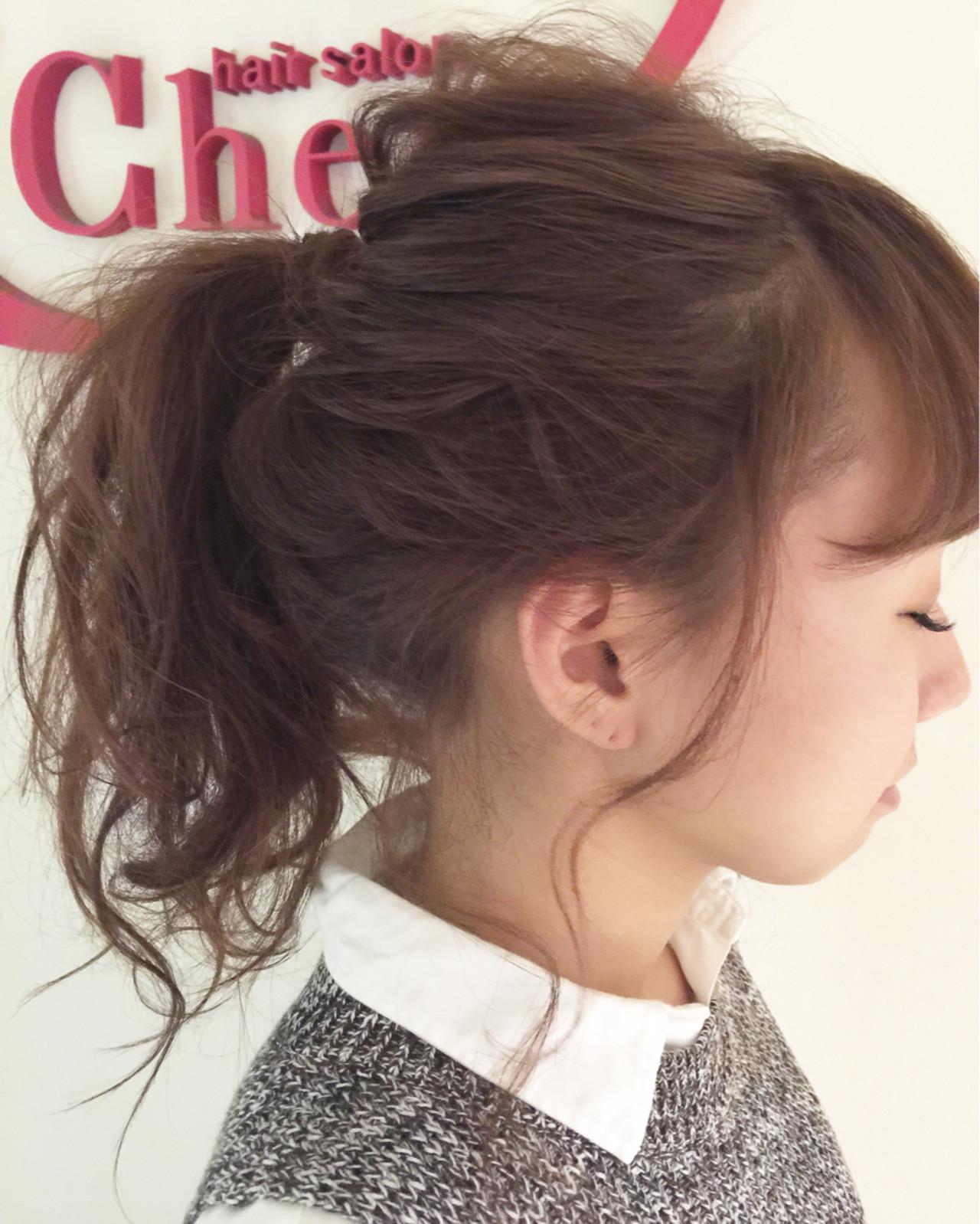 簡単ヘアアレンジ ヘアアレンジ ロング ポニーテール ヘアスタイルや髪型の写真・画像 | 栗山 卓也 / ヘアーサロンシェール