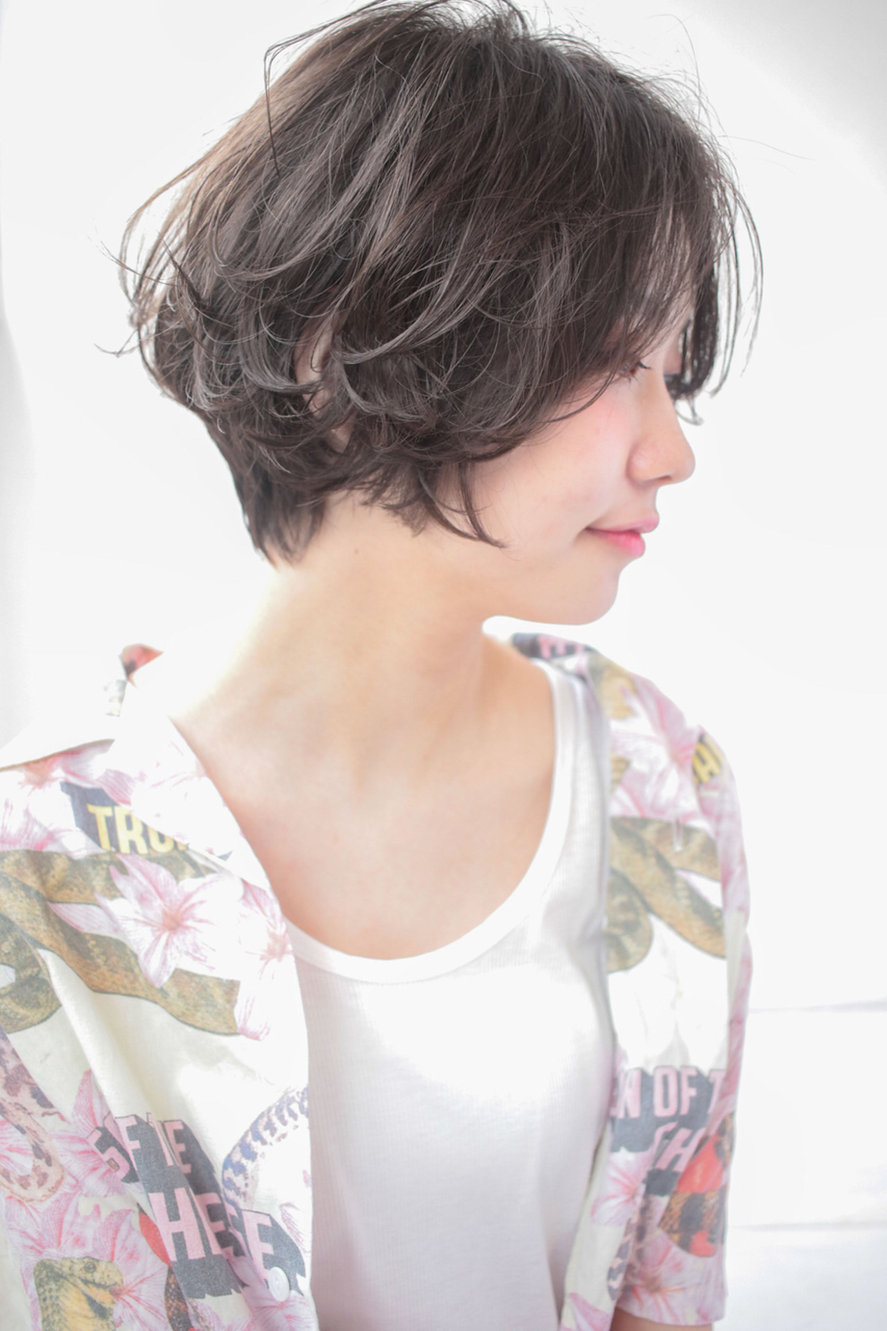 デート 色気 ナチュラル ショートボブ ヘアスタイルや髪型の写真・画像