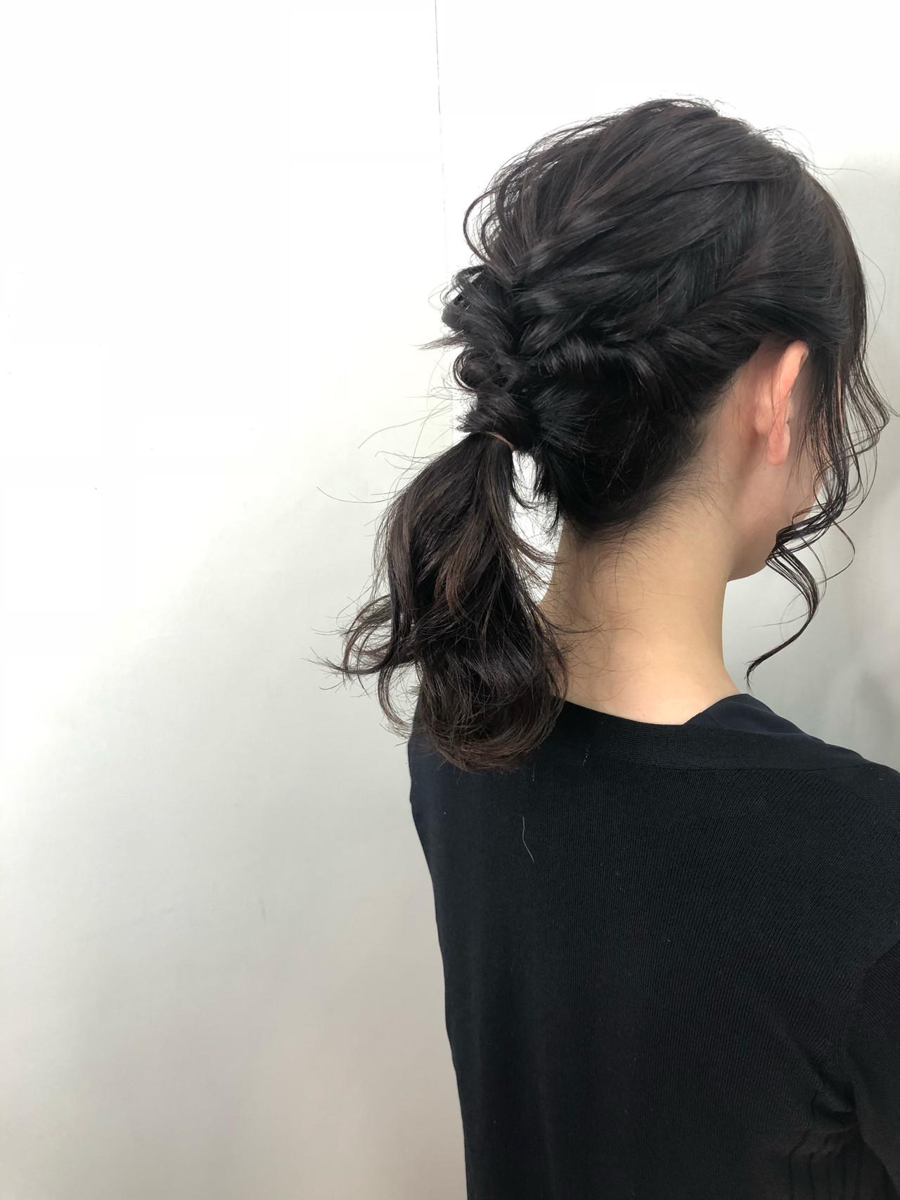 結婚式 髪型 ミディアム 簡単 黒髪 Khabarplanet Com