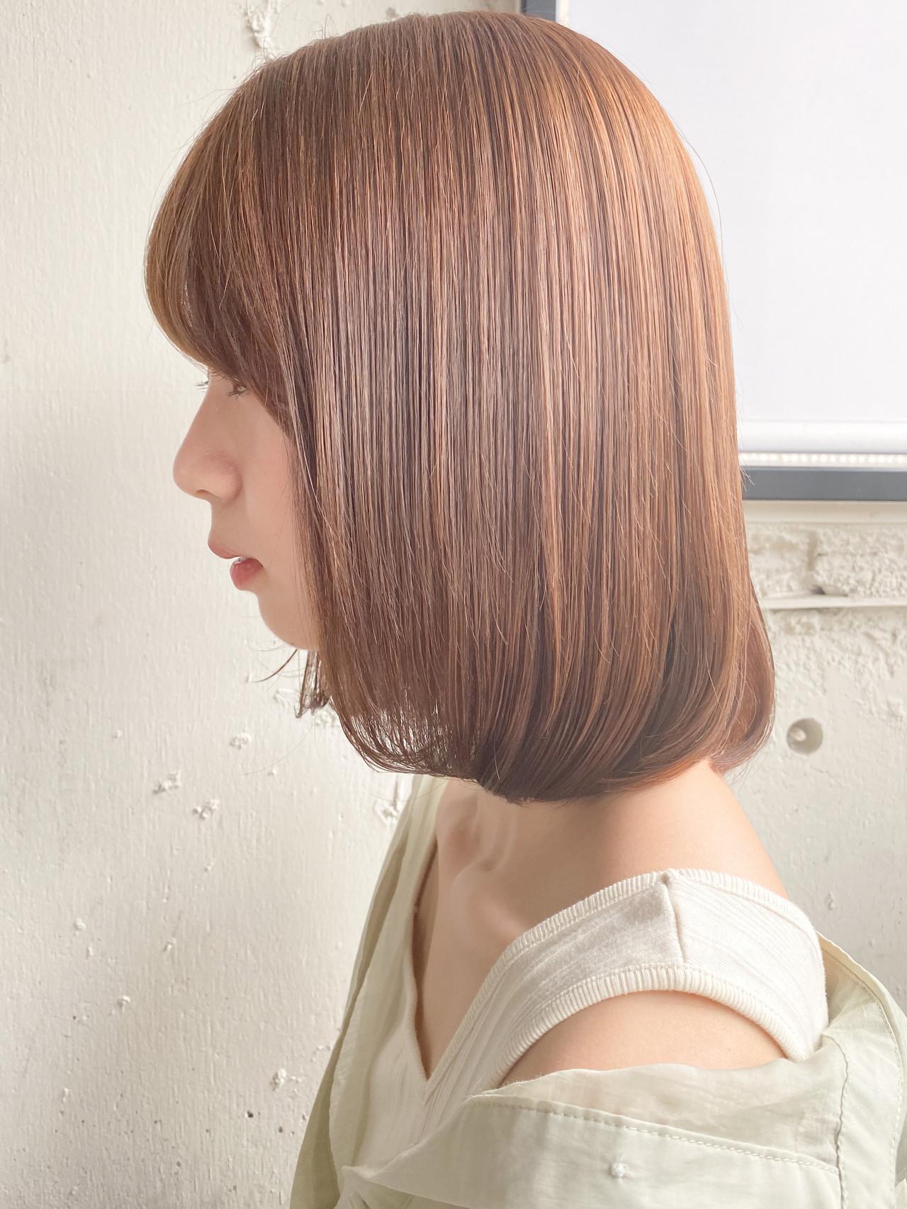 縮毛矯正ストカール モード ボブ ロブ ヘアスタイルや髪型の写真・画像 | dydi表参道 西谷美鈴 / dydi