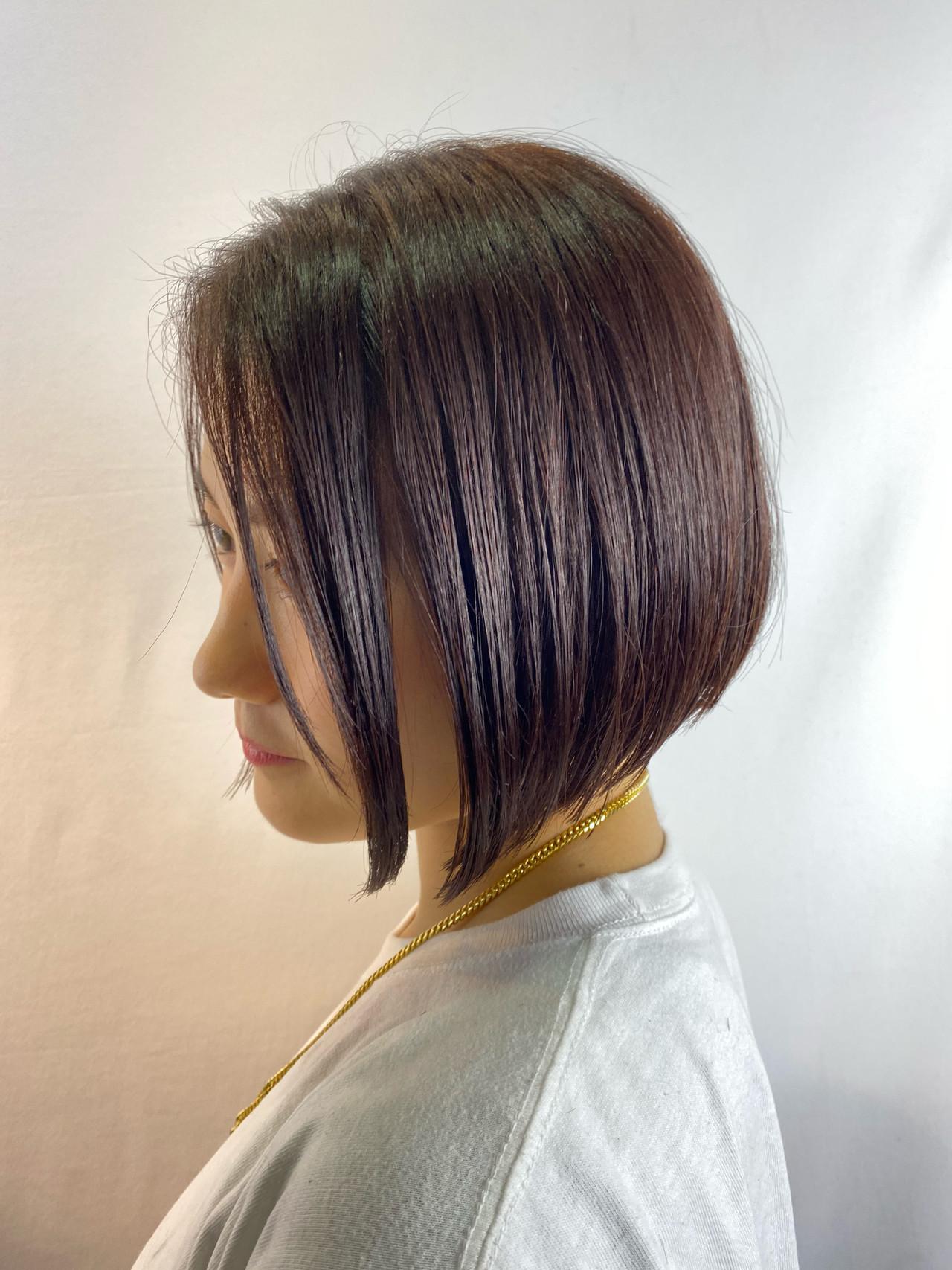 ショートヘア インナーカラー ショートボブ ボブ ヘアスタイルや髪型の写真・画像 | 片山 健吾 / FLEAR hair salon