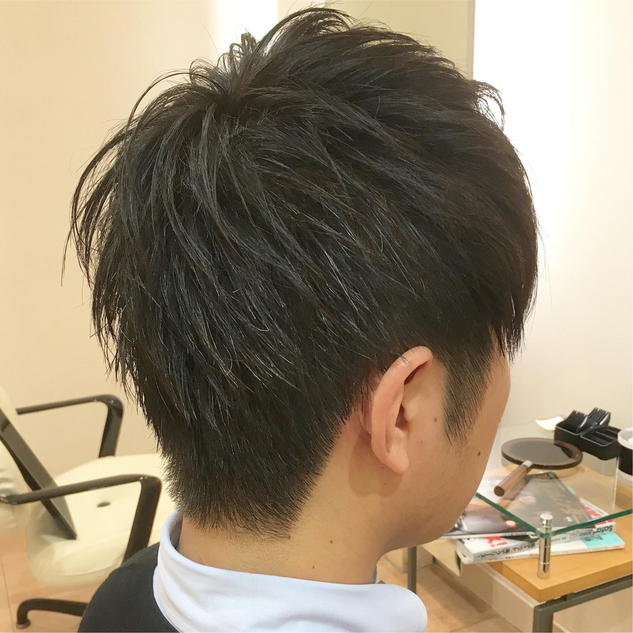 束感 メンズ オフィス ツーブロック ヘアスタイルや髪型の写真・画像
