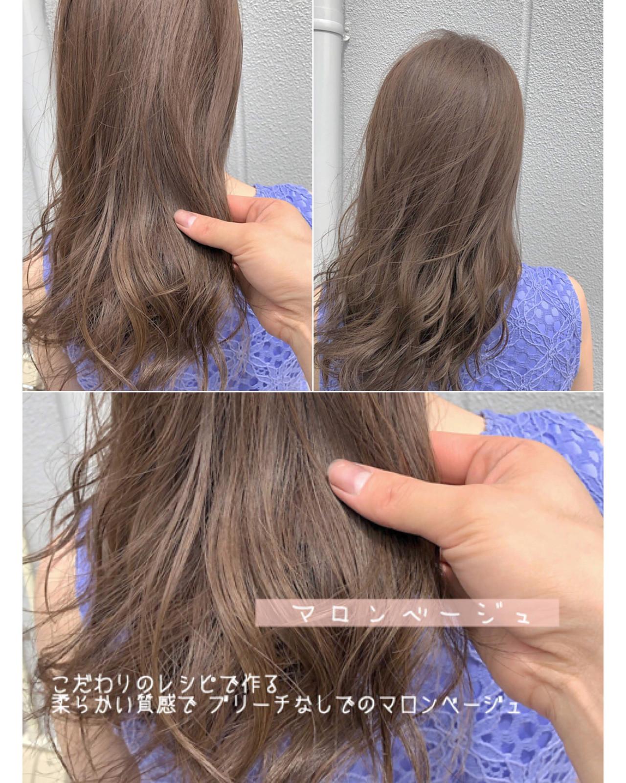ミディアム ミルクティーグレージュ 大人かわいい アンニュイほつれヘア ヘアスタイルや髪型の写真・画像 | ハンサムショートベージュ職人 田中ゆうま / ブレス瓜破