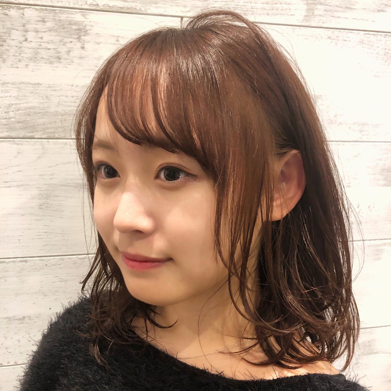 ウェーブ ナチュラル ゆるふわ 前髪あり ヘアスタイルや髪型の写真・画像 | [新宿]内田航 柔らかストレートとミディアムボブ / joemi by unami