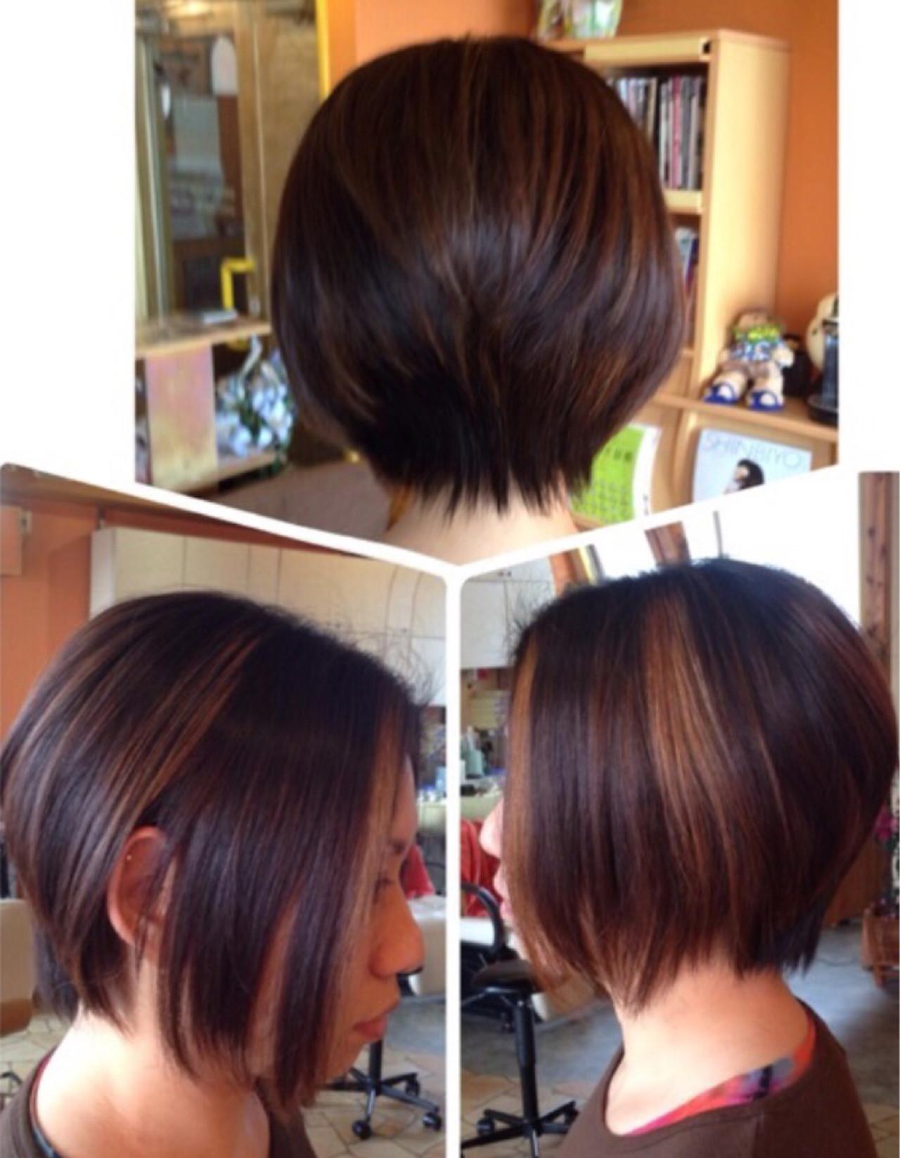 ショートボブ ダブルカラー 坊主 ストリート ヘアスタイルや髪型の写真・画像   門脇 トオル / Hair&Make  LOVE BIRDS