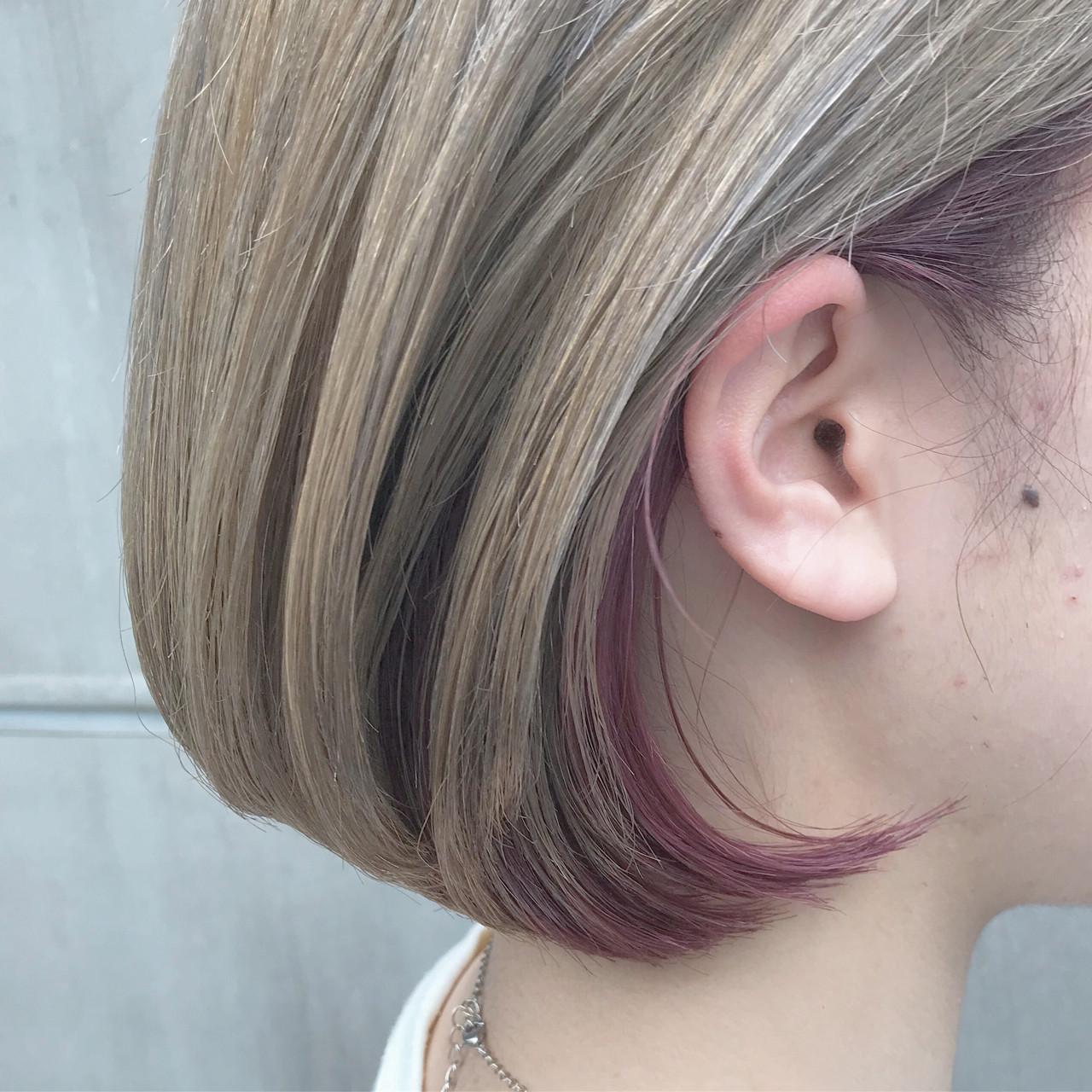 ショート グレージュ デート モード ヘアスタイルや髪型の写真・画像 | 阪下 裕紀 / フリーランス /SALOWIN
