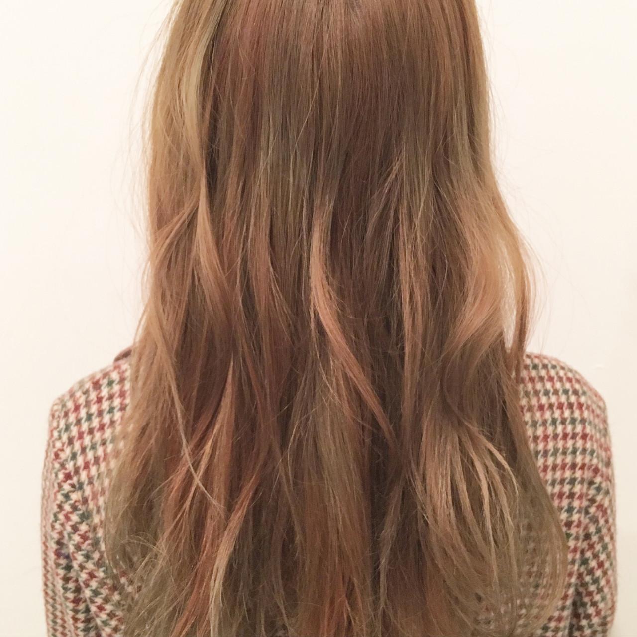 ロング ダブルカラー ストリート 外国人風カラー ヘアスタイルや髪型の写真・画像