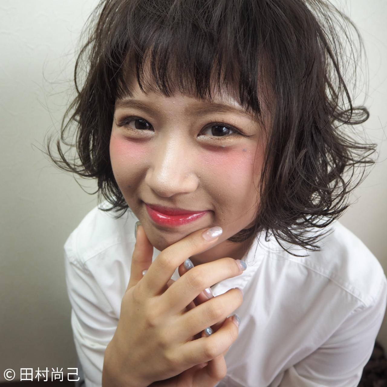 パーマ ゆるふわ ショート 小顔 ヘアスタイルや髪型の写真・画像   Naoki Tamura / 仁インターナショナル ナチュラリー アライブ