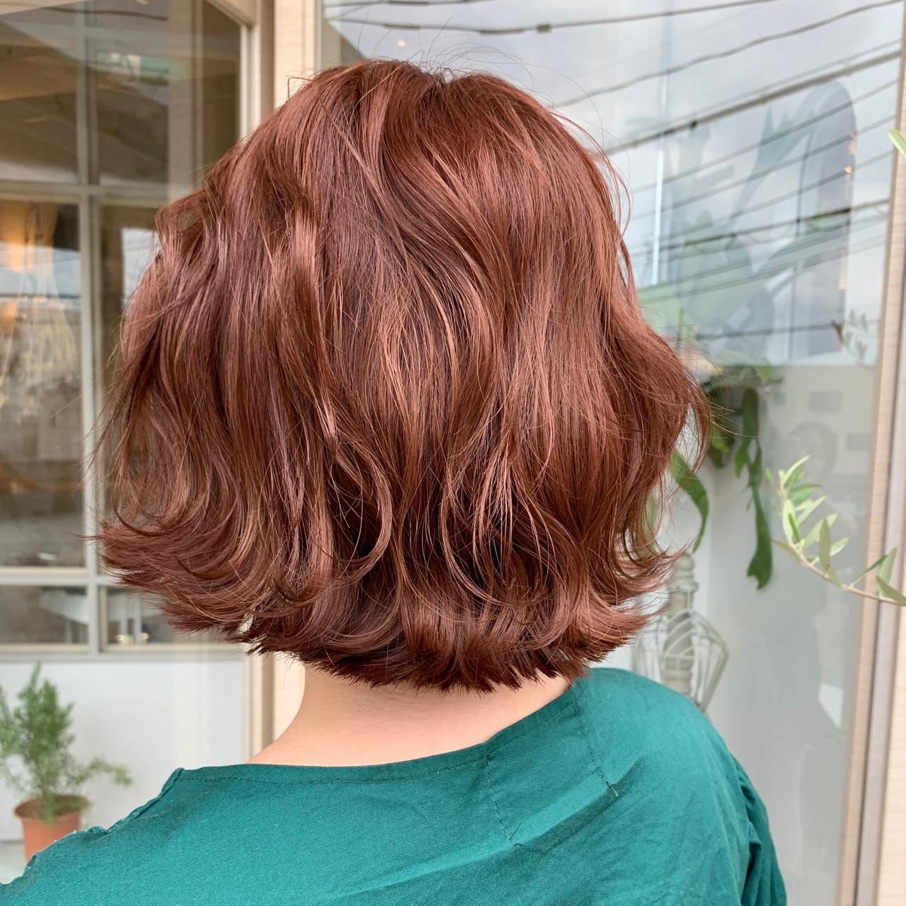アプリコットオレンジ ナチュラル オレンジブラウン オレンジ ヘアスタイルや髪型の写真・画像 | ますだまりな / hair make misty