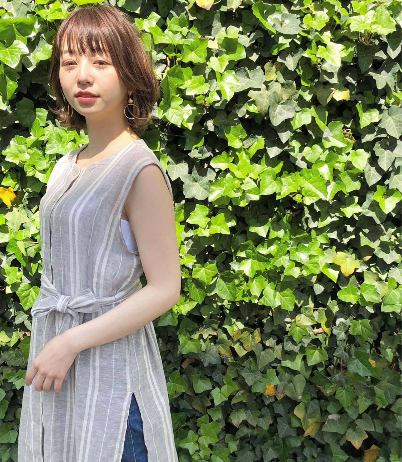 ボブ 色気 ショート ゆるふわ ヘアスタイルや髪型の写真・画像 | ナガヤ アキラ joemi 新宿 / joemi by Un ami