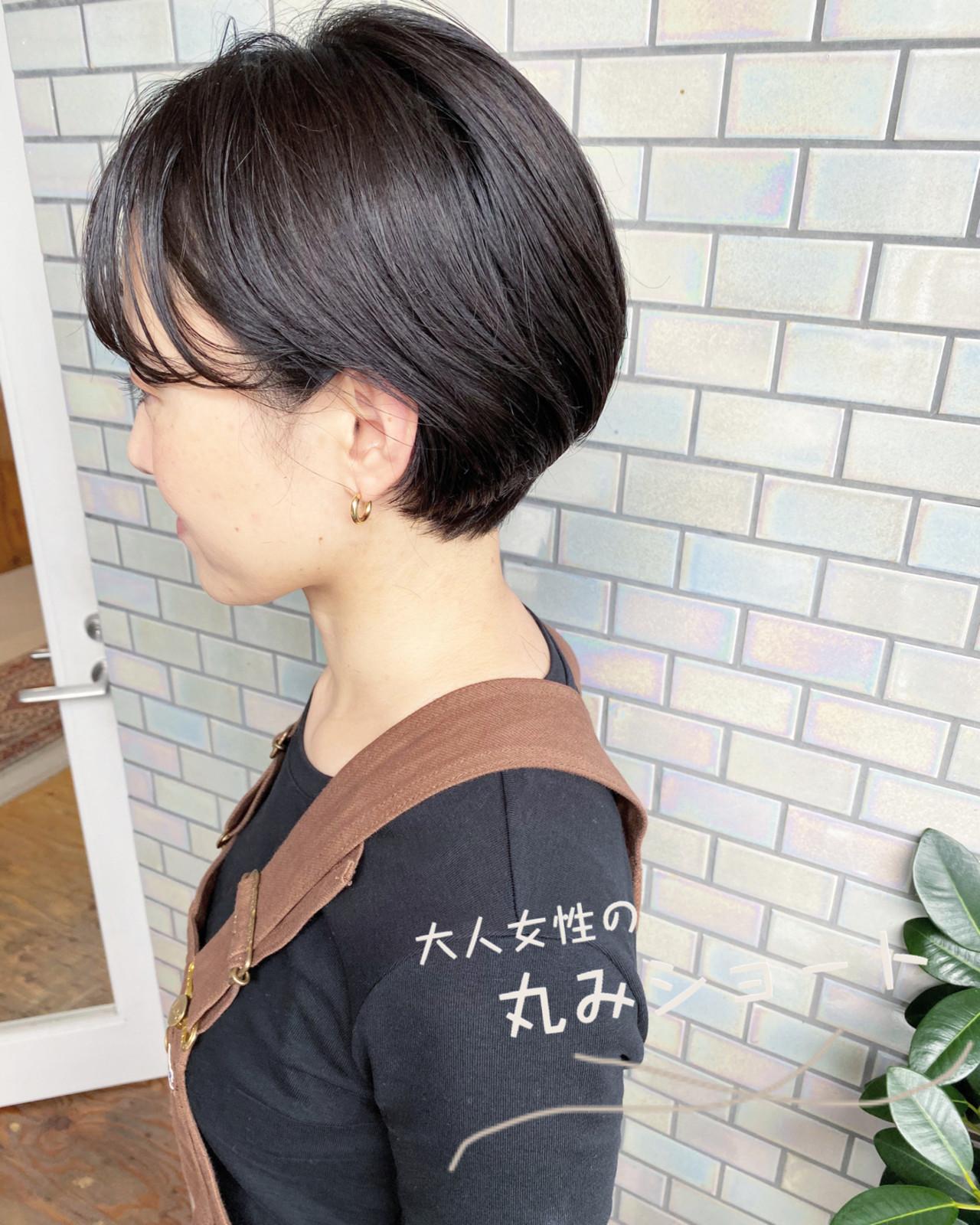 ショートボブ ショート ナチュラル ベリーショート ヘアスタイルや髪型の写真・画像 | 大人可愛い【ショート・ボブが得意】つばさ / VIE