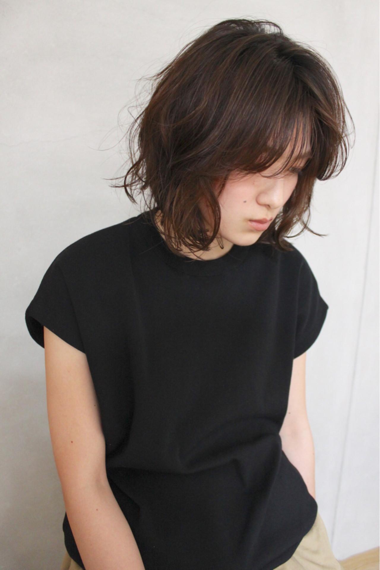 ナチュラル 無造作 大人かわいい ボブ ヘアスタイルや髪型の写真・画像 | okubo shigeru / Salt hair