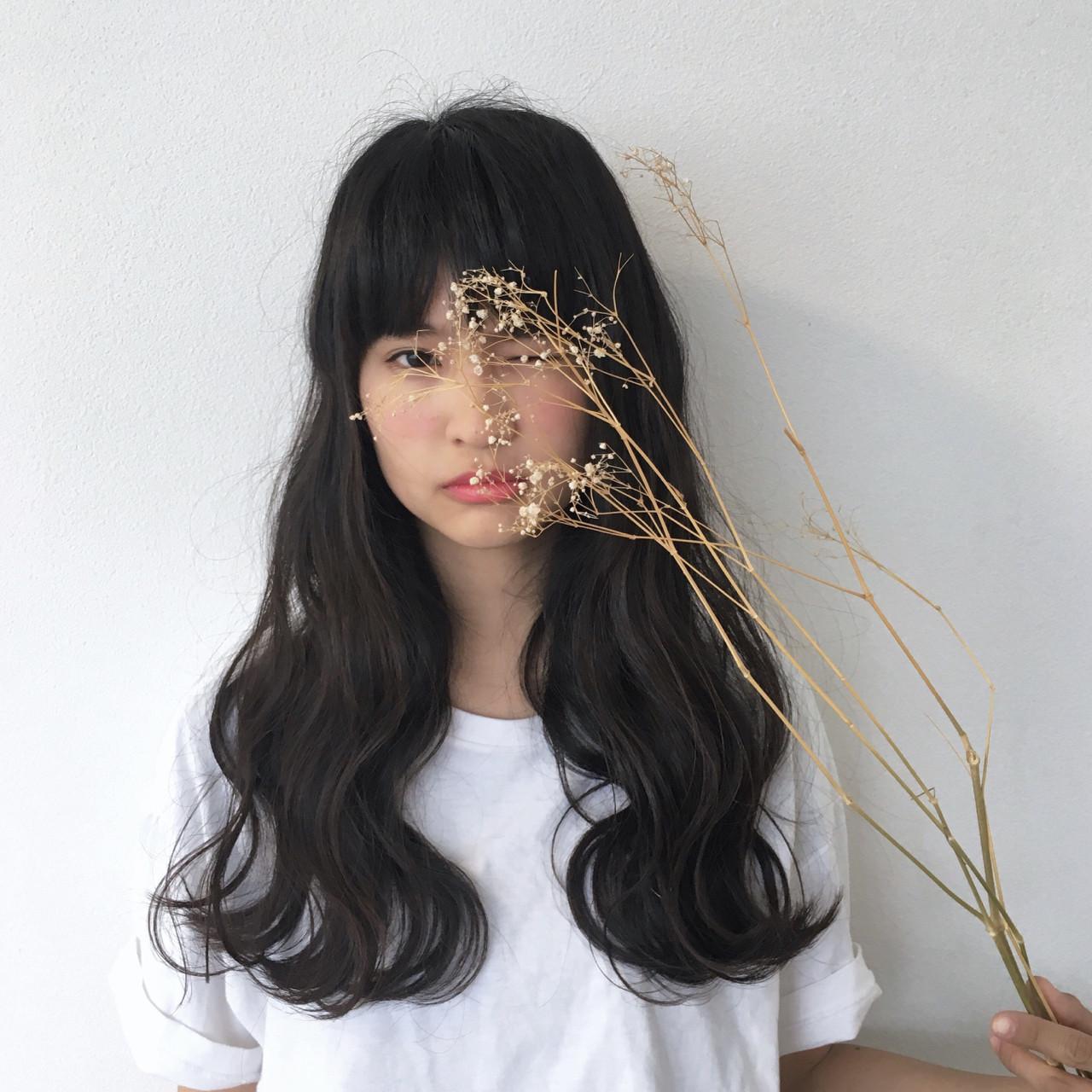 簡単ヘアアレンジ 外国人風 黒髪 ロング ヘアスタイルや髪型の写真・画像