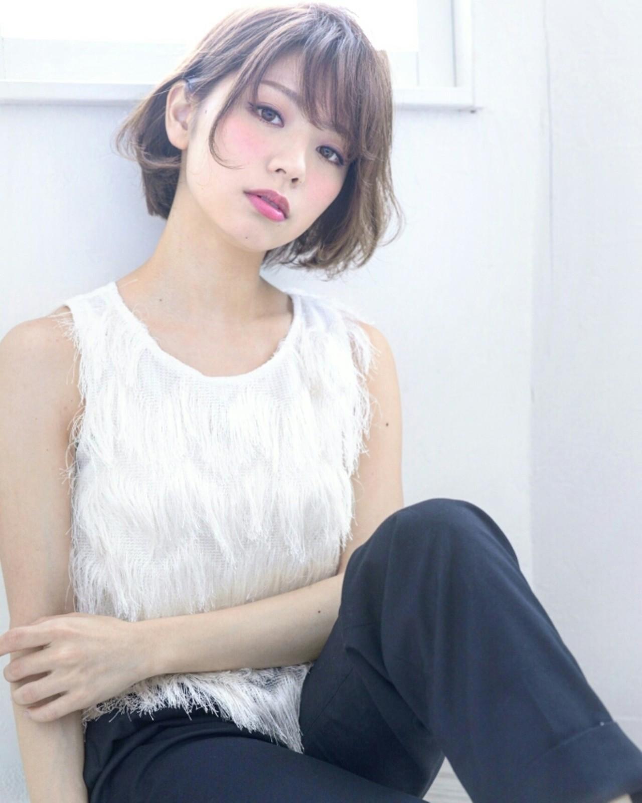 フェミニン パーマ 大人かわいい ショート ヘアスタイルや髪型の写真・画像 | Yuki Ito / AVANCECROSStuin梅田茶屋町店