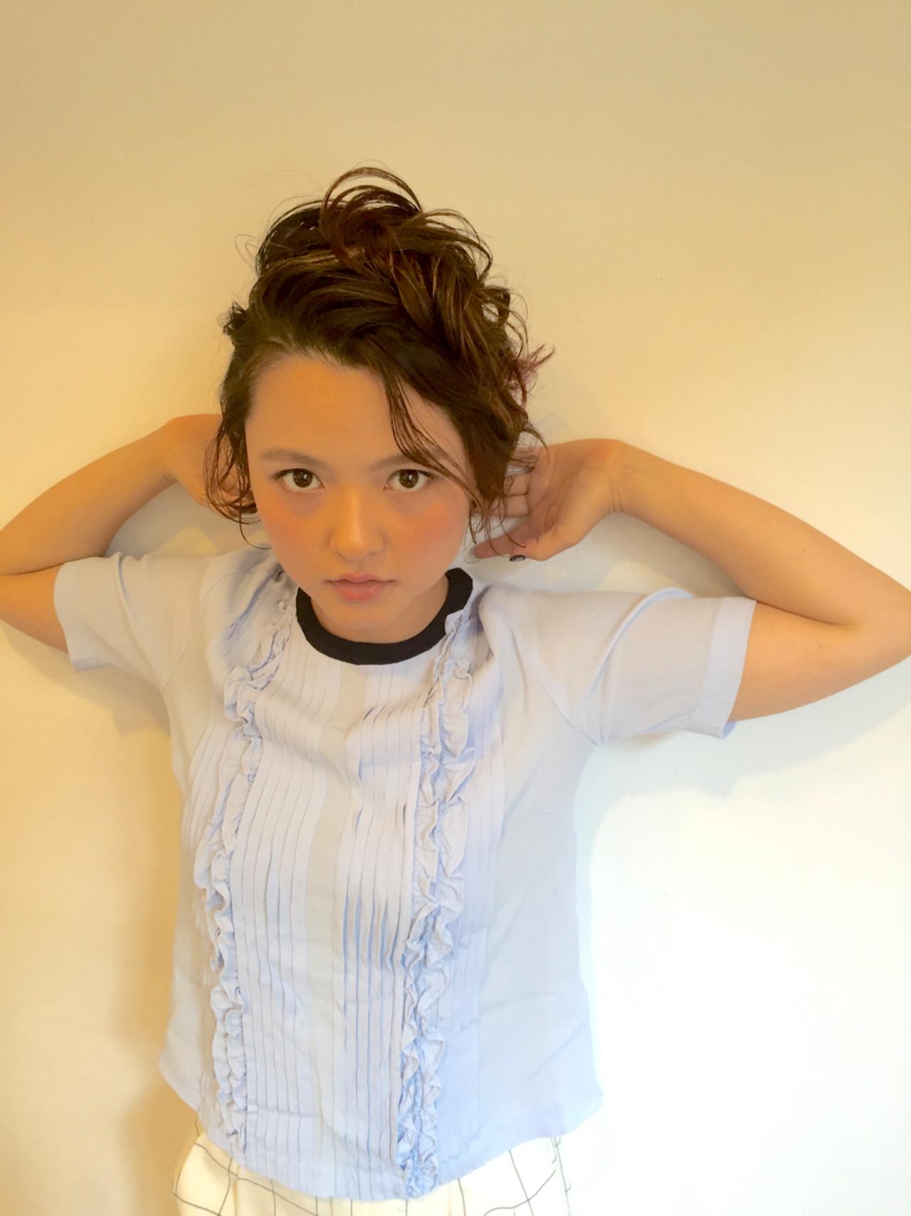 ヘアアレンジ ガーリー ウェットヘア ショート ヘアスタイルや髪型の写真・画像