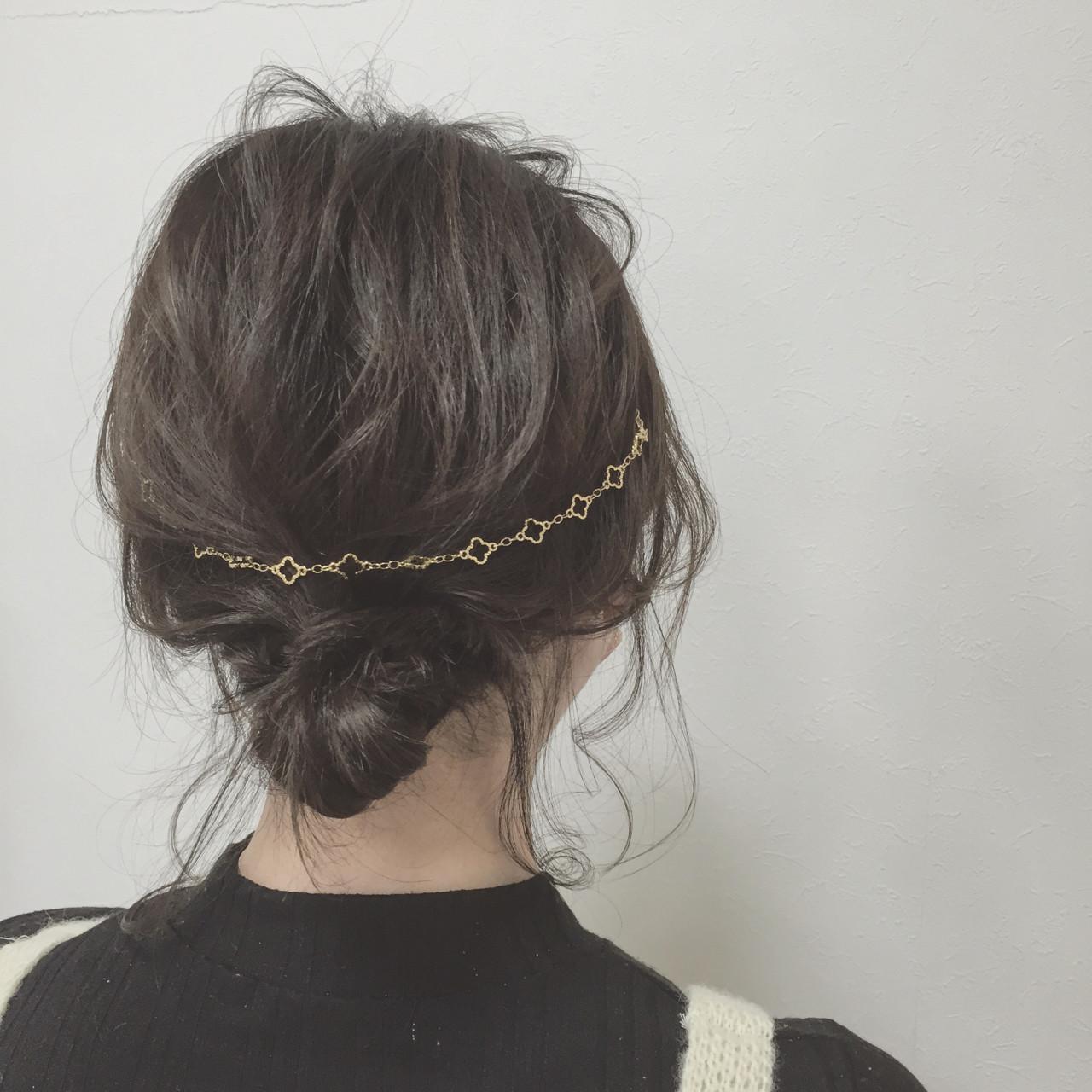 簡単ヘアアレンジ ボブ ショート カチューシャ ヘアスタイルや髪型の写真・画像 | 宮田 恵里香 / igloo