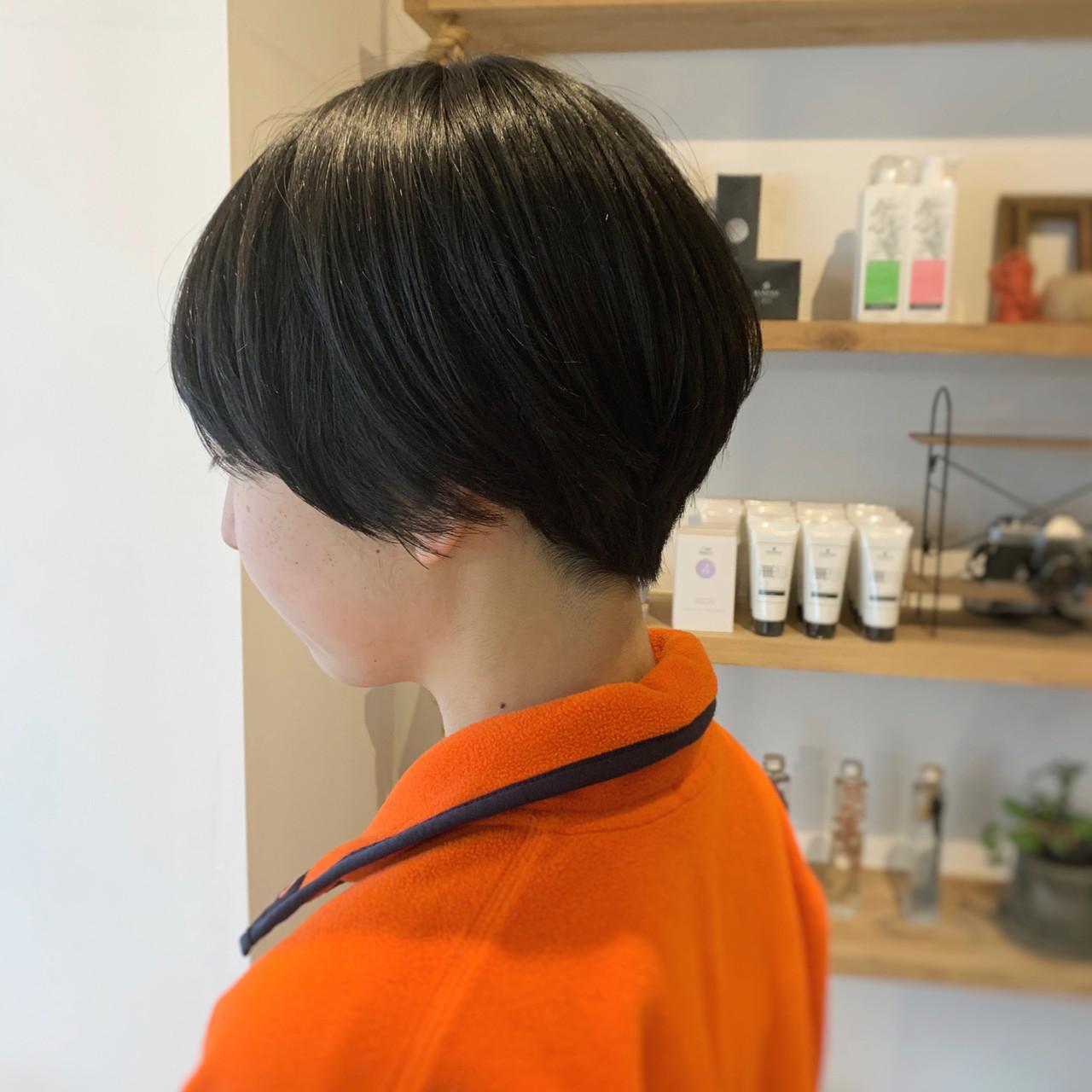 マッシュショート ハンサムショート ショートヘア ベリーショート ヘアスタイルや髪型の写真・画像 | 谷川 未来 / Lauburu bat.hair渋谷2号店