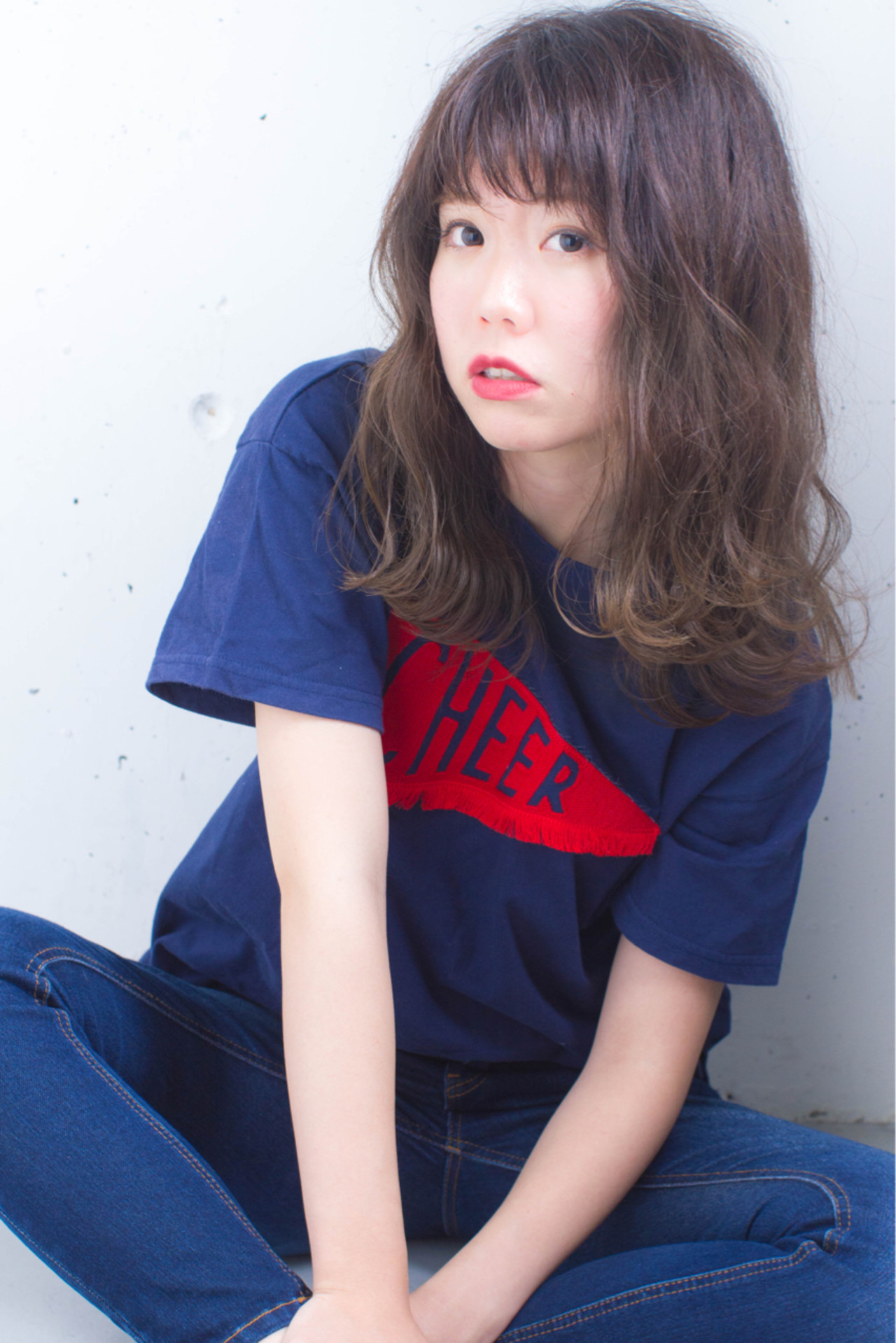 グラデーションカラー 外国人風 暗髪 ハイライト ヘアスタイルや髪型の写真・画像