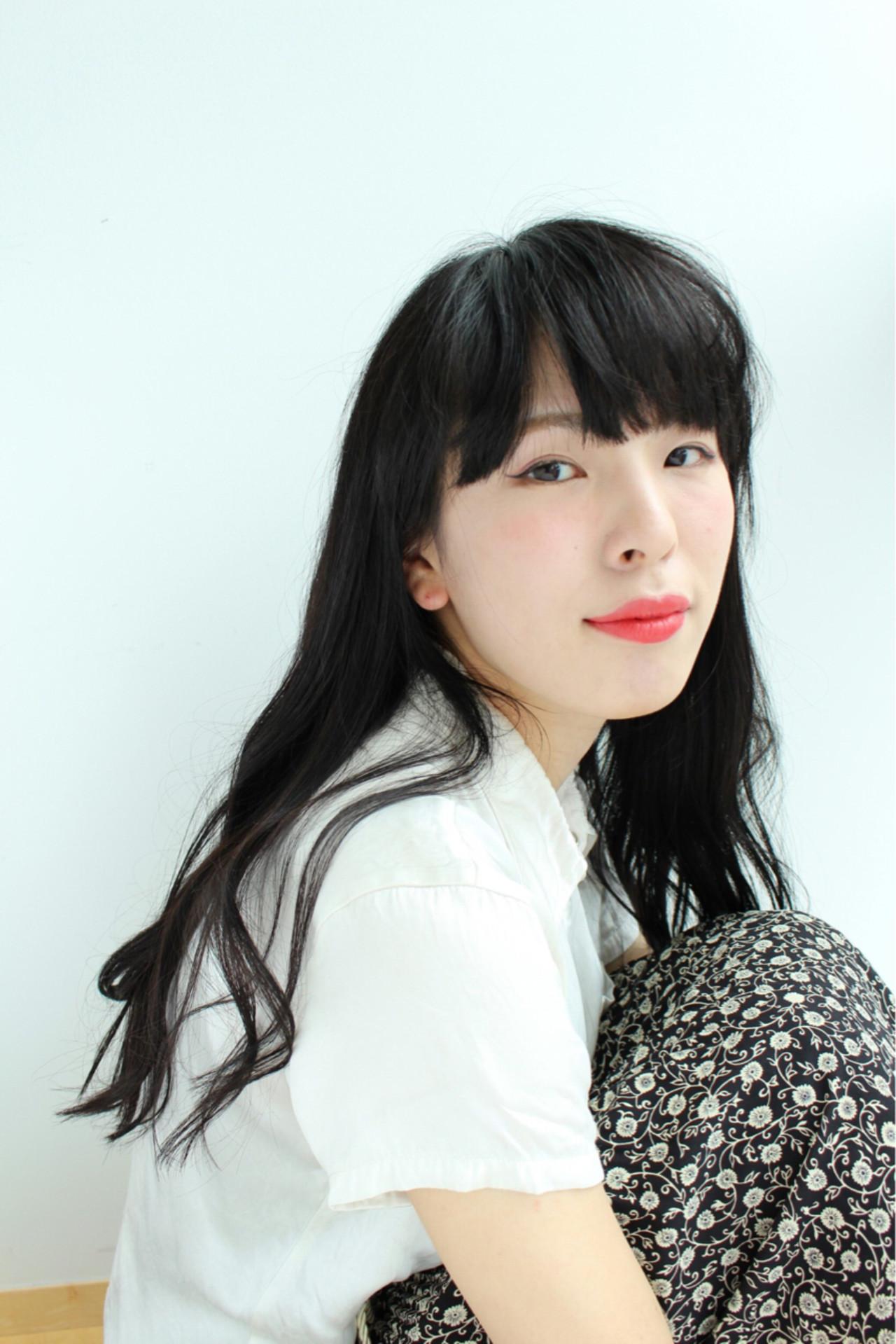 ロング 黒髪 ゆるふわ 大人かわいい ヘアスタイルや髪型の写真・画像 | 三上 奈巳 / Spin hair 烏丸店
