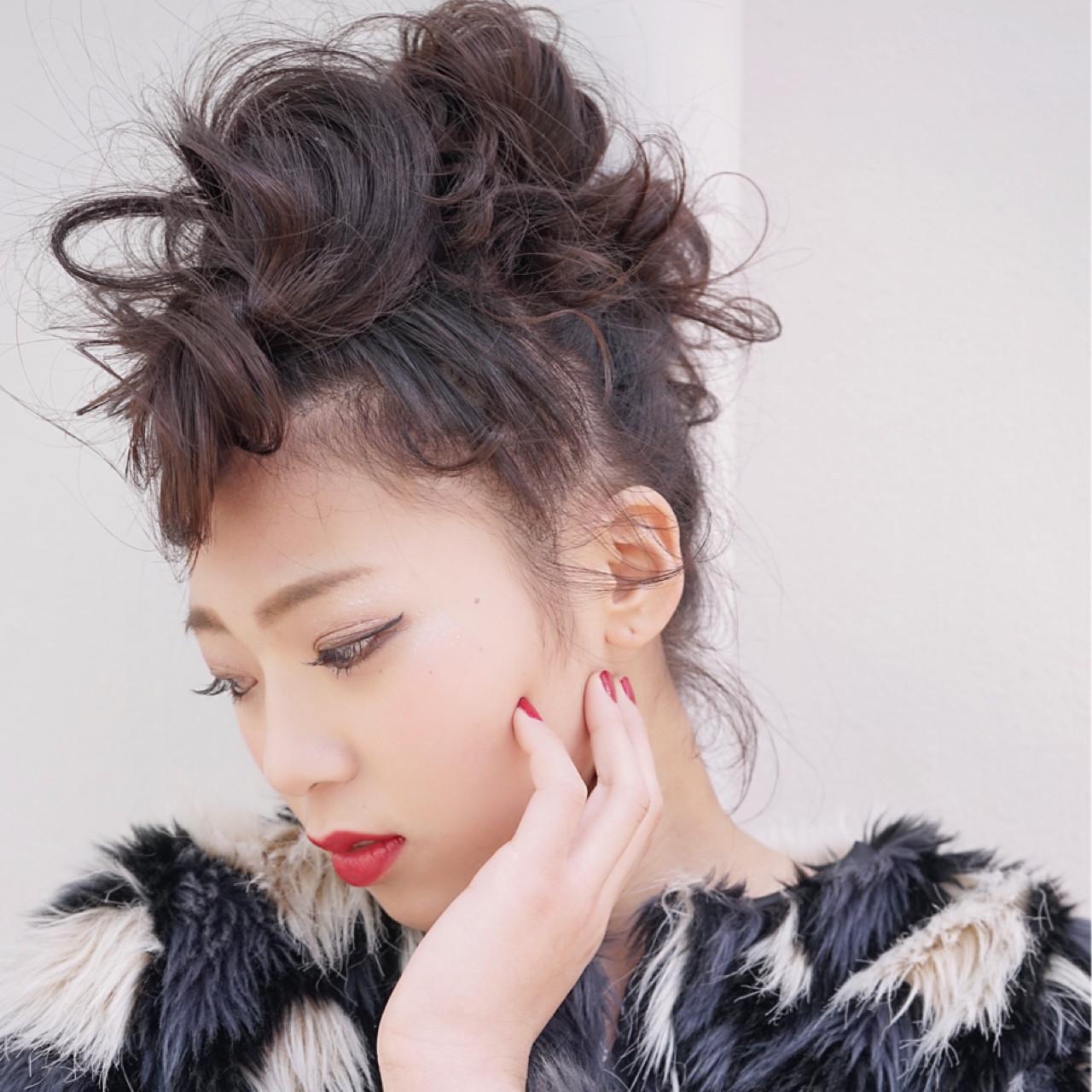 ニュアンス 大人女子 ロング ヘアアレンジ ヘアスタイルや髪型の写真・画像