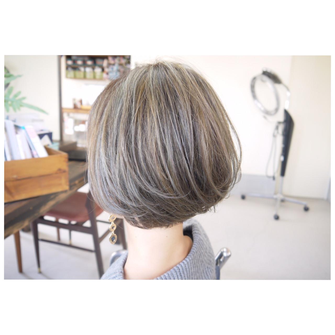 ナチュラル ハイライト ダブルカラー スライシングハイライト ヘアスタイルや髪型の写真・画像