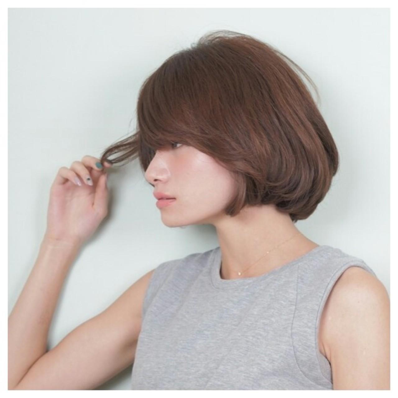 色気 前髪あり コンサバ ボブ ヘアスタイルや髪型の写真・画像