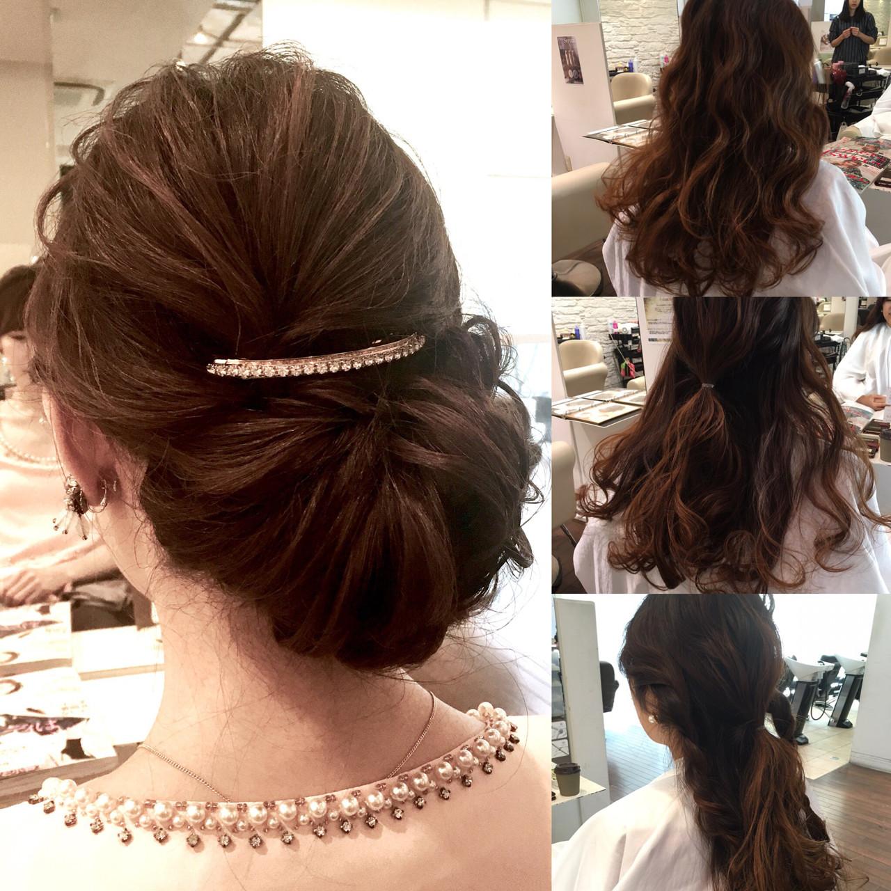 ロング 大人かわいい ヘアアレンジ パーティ ヘアスタイルや髪型の写真・画像 | 寺田幸功 / CAREumeda