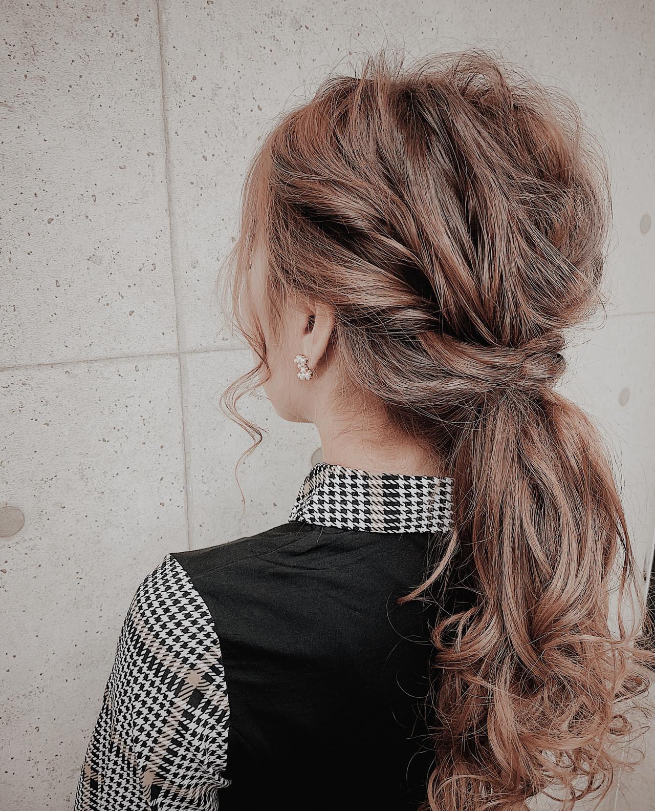 ヘアアレンジ ヘアセット 結婚式 フェミニン ヘアスタイルや髪型の写真・画像   Muuka♡ / hair make salon Revier