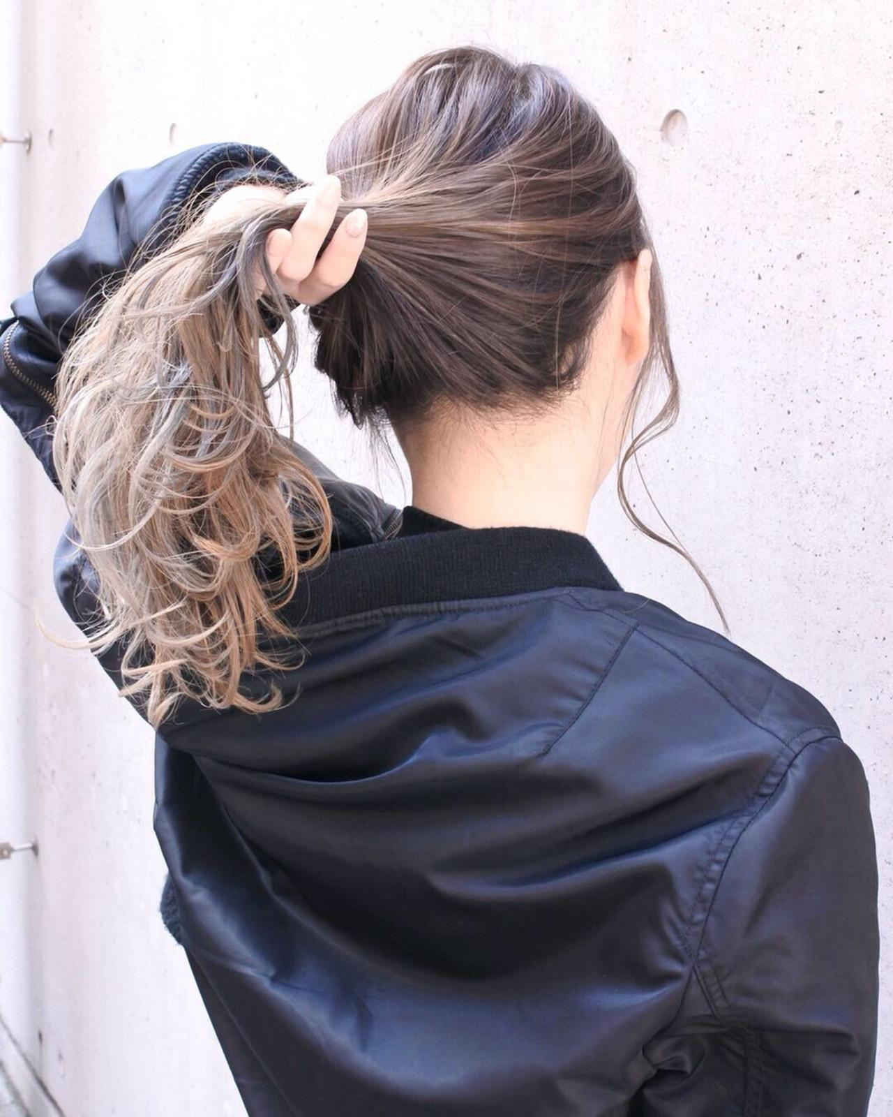 外国人風カラー 外国人風 バレイヤージュ フェミニン ヘアスタイルや髪型の写真・画像