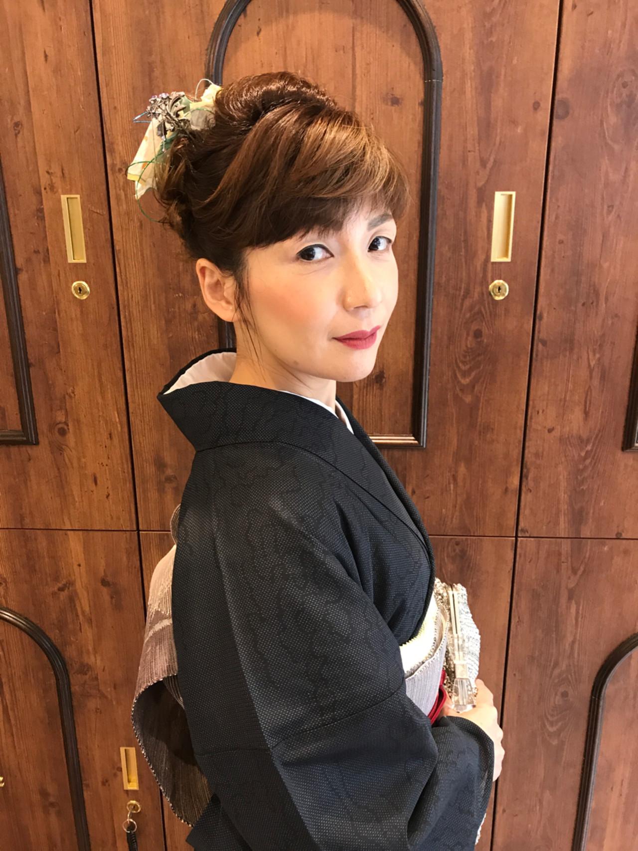 結婚式 和装 エレガント 上品 ヘアスタイルや髪型の写真・画像 | 濱田 薫 / blue-eyed girl (ブルーアイドガール)