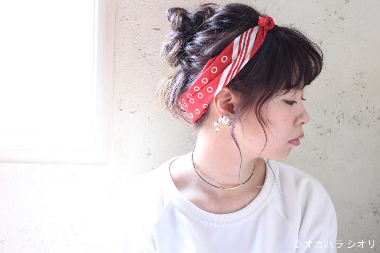 外国人風 ゆるふわ ミディアム ヘアアレンジ ヘアスタイルや髪型の写真・画像