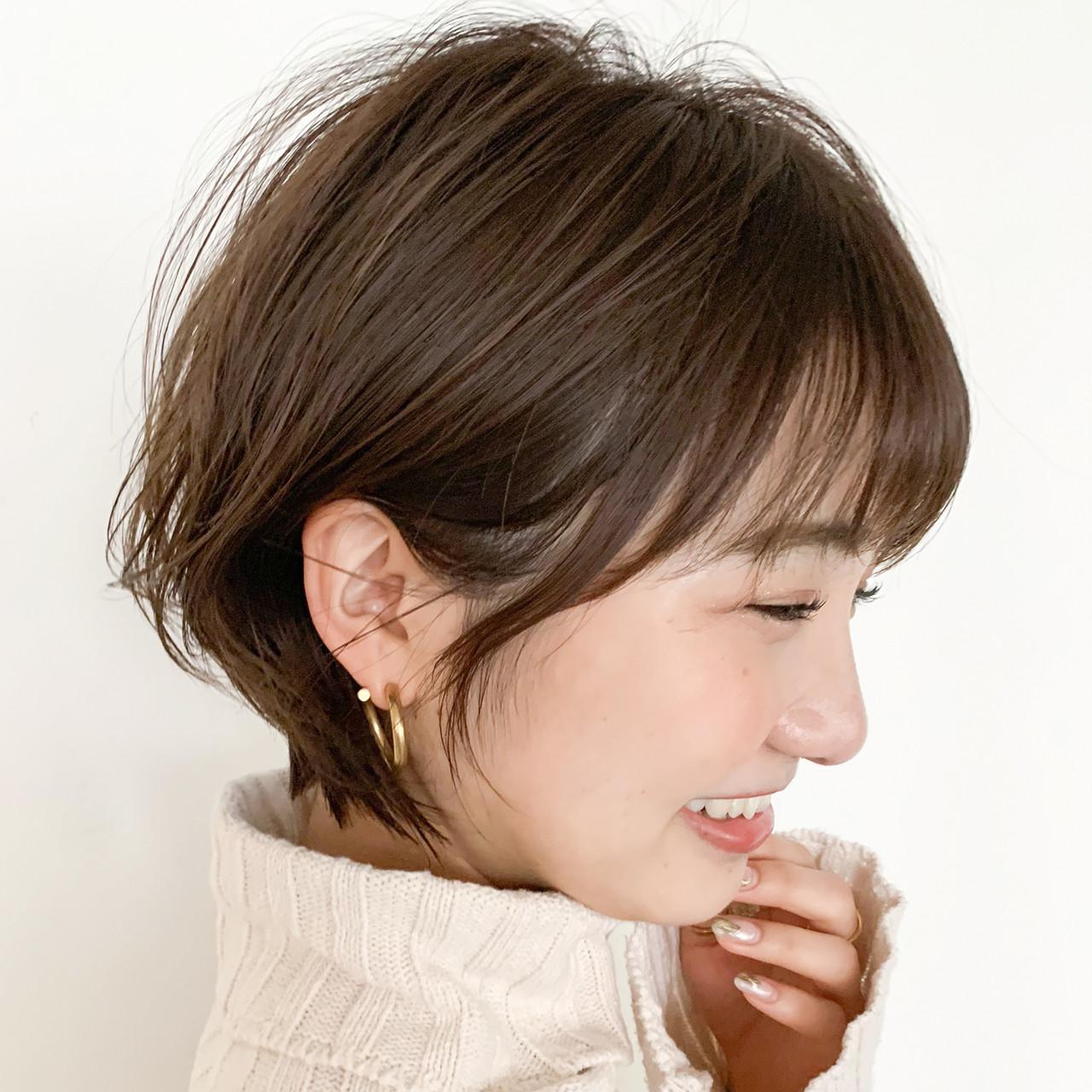アンニュイほつれヘア ショートヘア ショートボブ ナチュラル ヘアスタイルや髪型の写真・画像 | LIPPS銀座 安田愛佳 / LIPPS 銀座